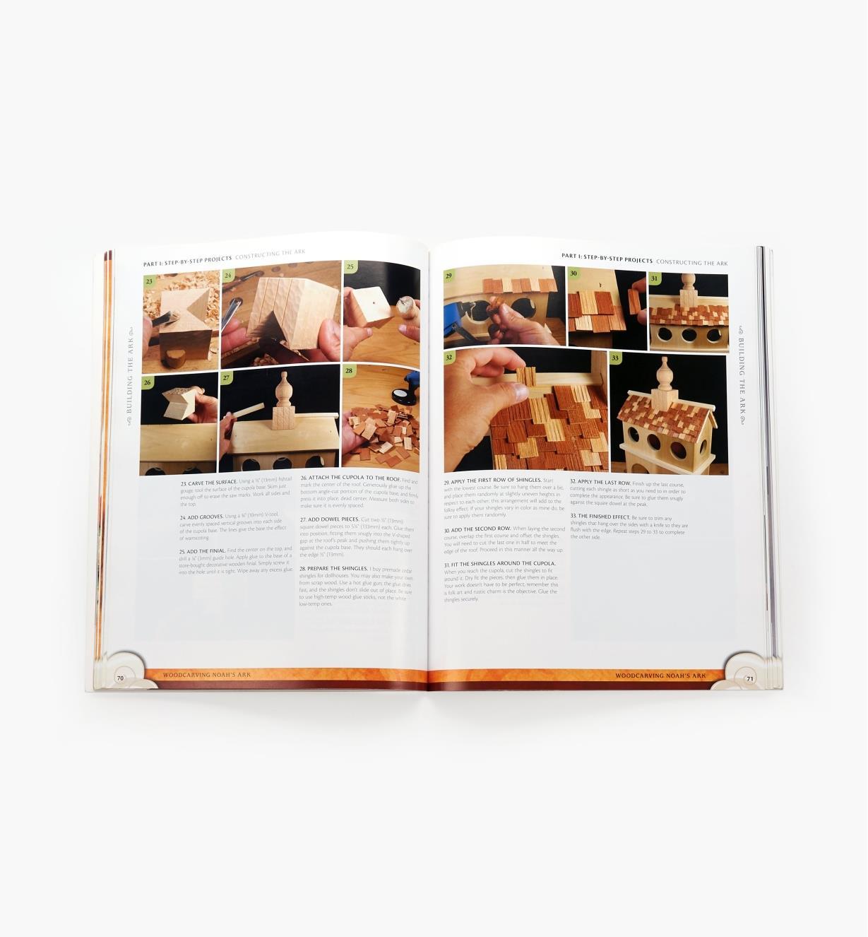 99W6538 - Woodcarving Noah's Ark