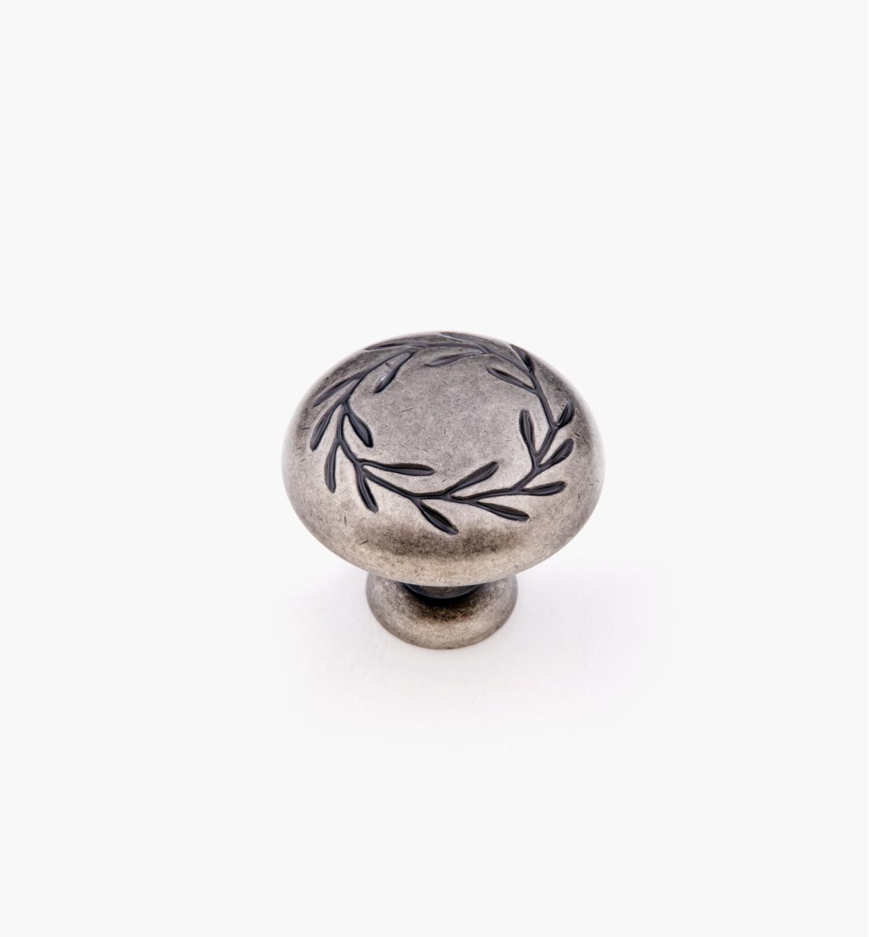 "02A0614 - 1 1/4"" Weathered Nickel Leaf Knob"