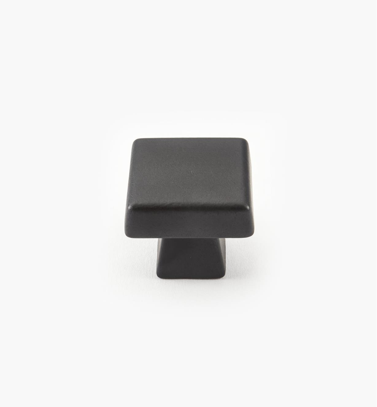 "02A1763 - Blackrock Black Bronze Square Knob, 1 3/8"" x 1 3/8"", each"