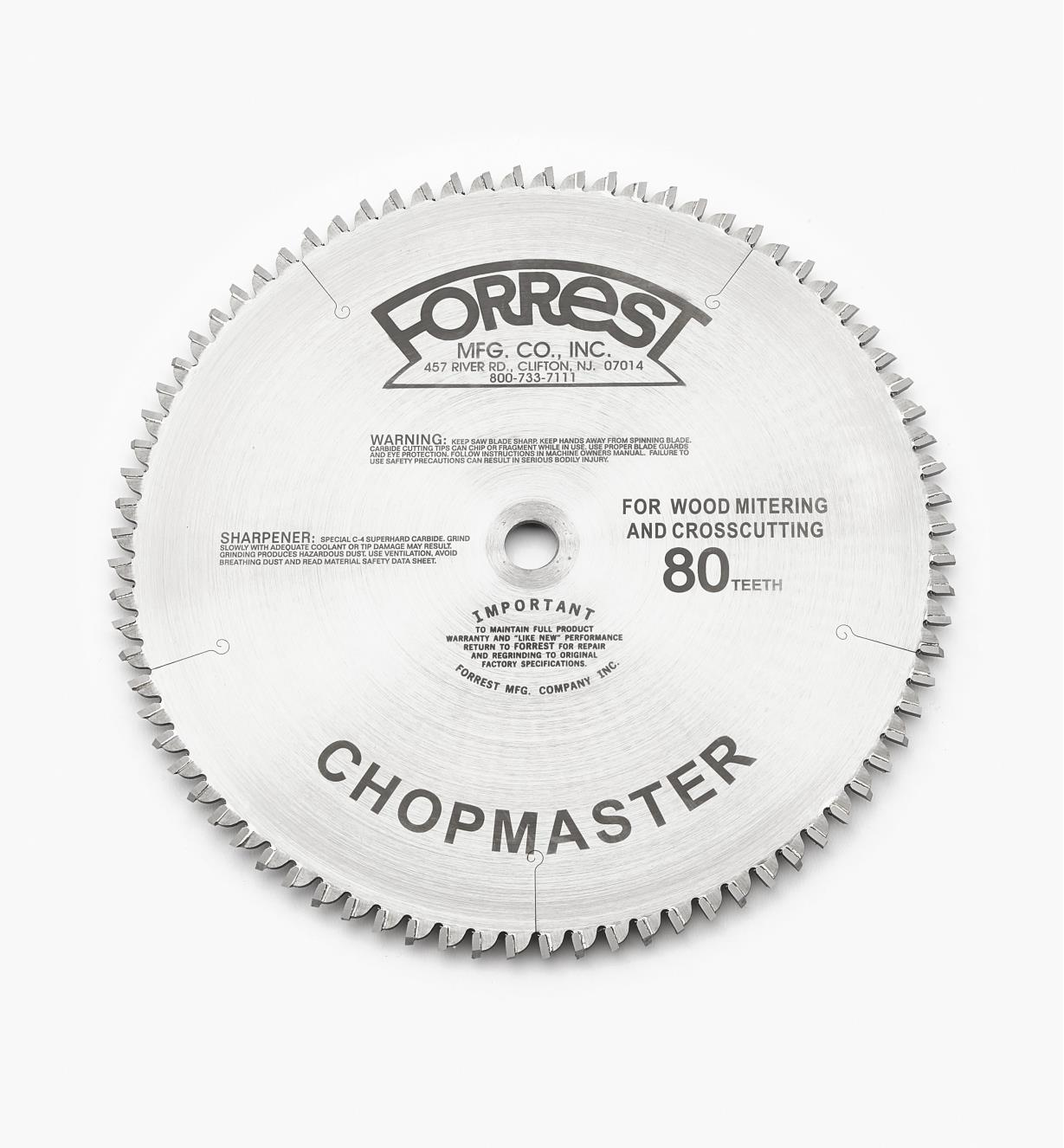 "15T4151 - 10"" x 80-Tooth Chopmaster,7/64"" Kerf"
