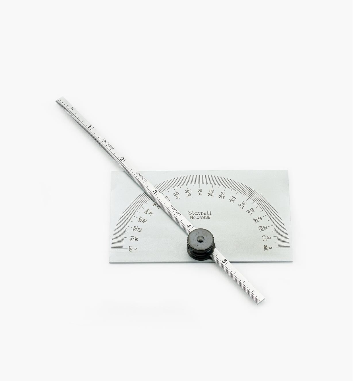 30N0420 - Protractor with Depth Gauge