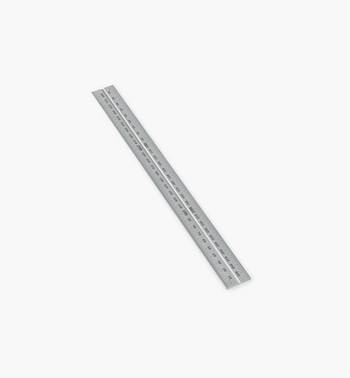 30N3142 - Règle 300 mm, fini chrome pour têtes d'équerre de 12 po et 300 mm, rapporteur d'angle et tête de centrage Starrett
