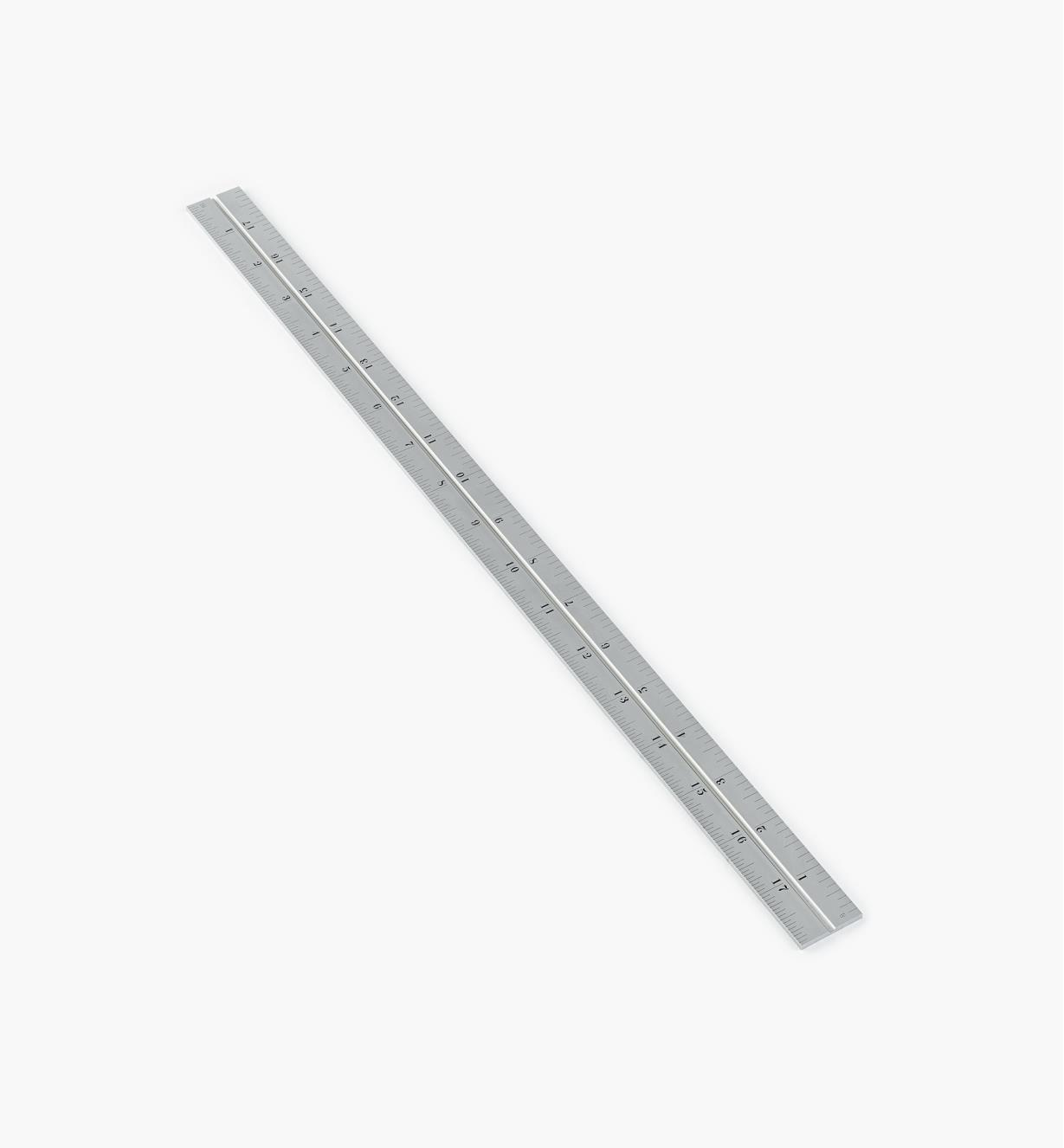"""30N3143 - Starrett 18"""" Imperial Chrome Rule for 12""""/300mm Square, Protractor & Center-Finding Heads"""