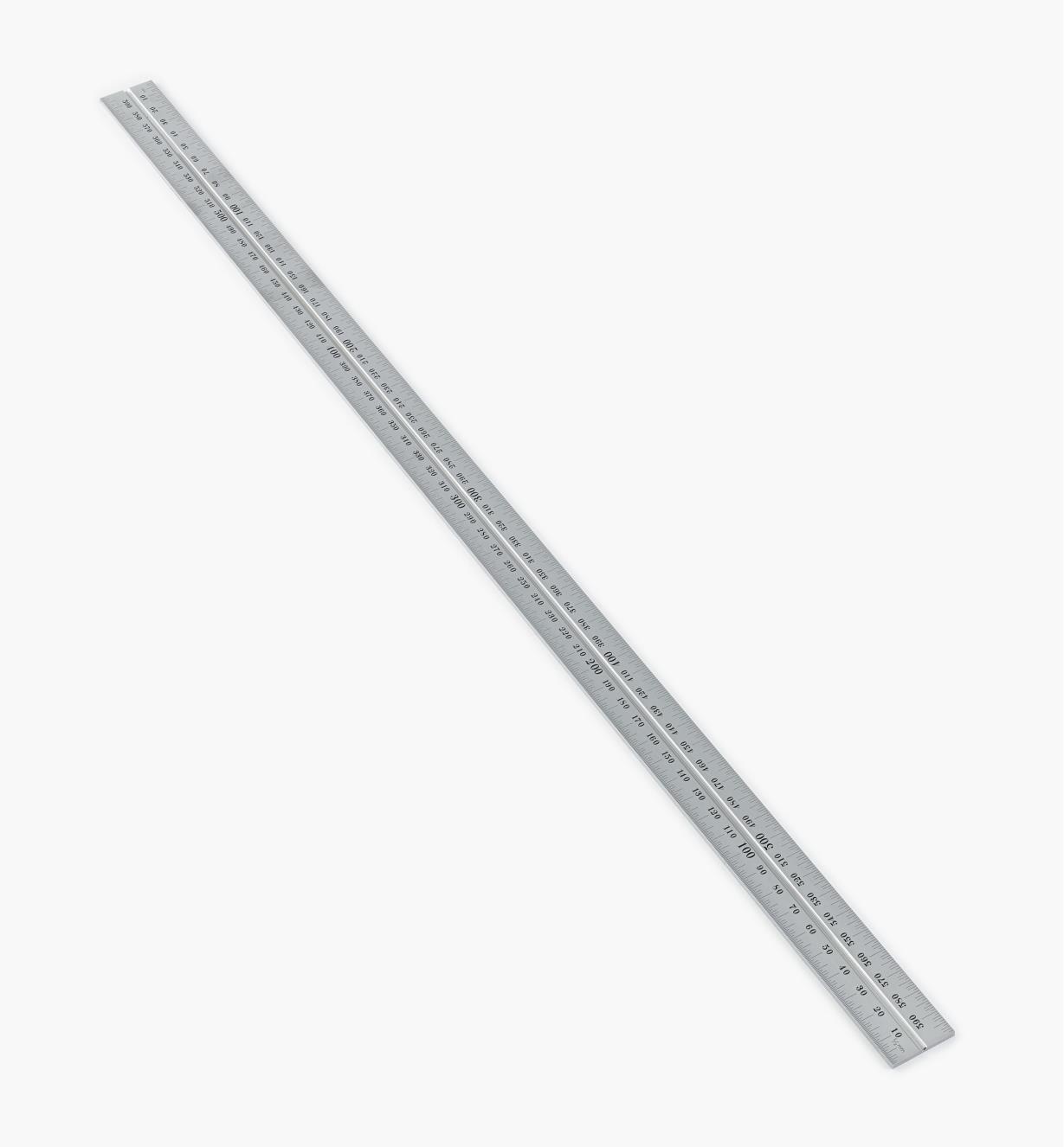30N3146 - Règle 600 mm, fini chrome pour têtes d'équerre de 12 po et 300 mm, rapporteur d'angle et tête de centrage Starrett