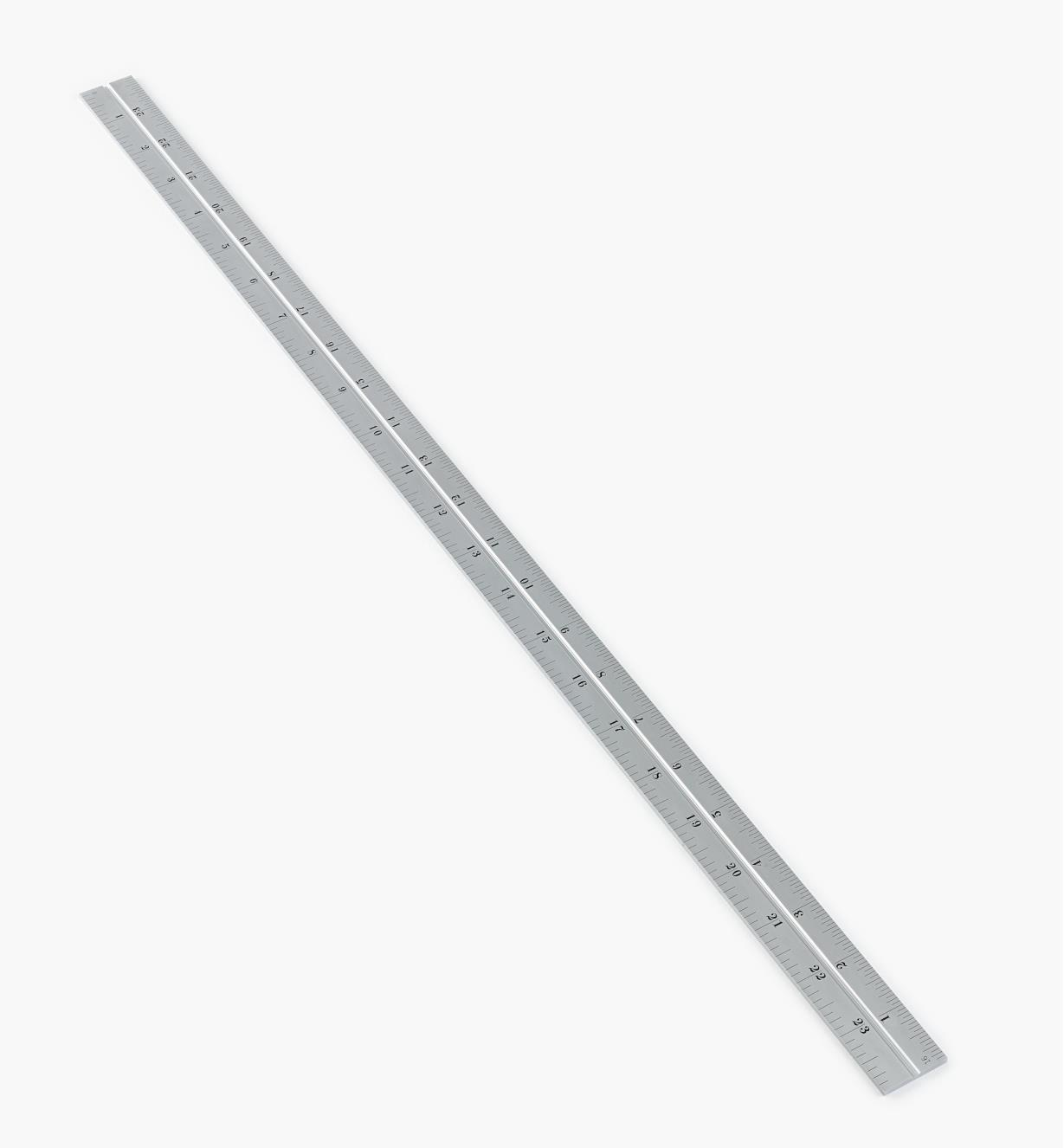 "30N3147 - Starrett 24"" Imperial Chrome Rule for 11""/300mm Square, Protractor & Center-Finding Heads"
