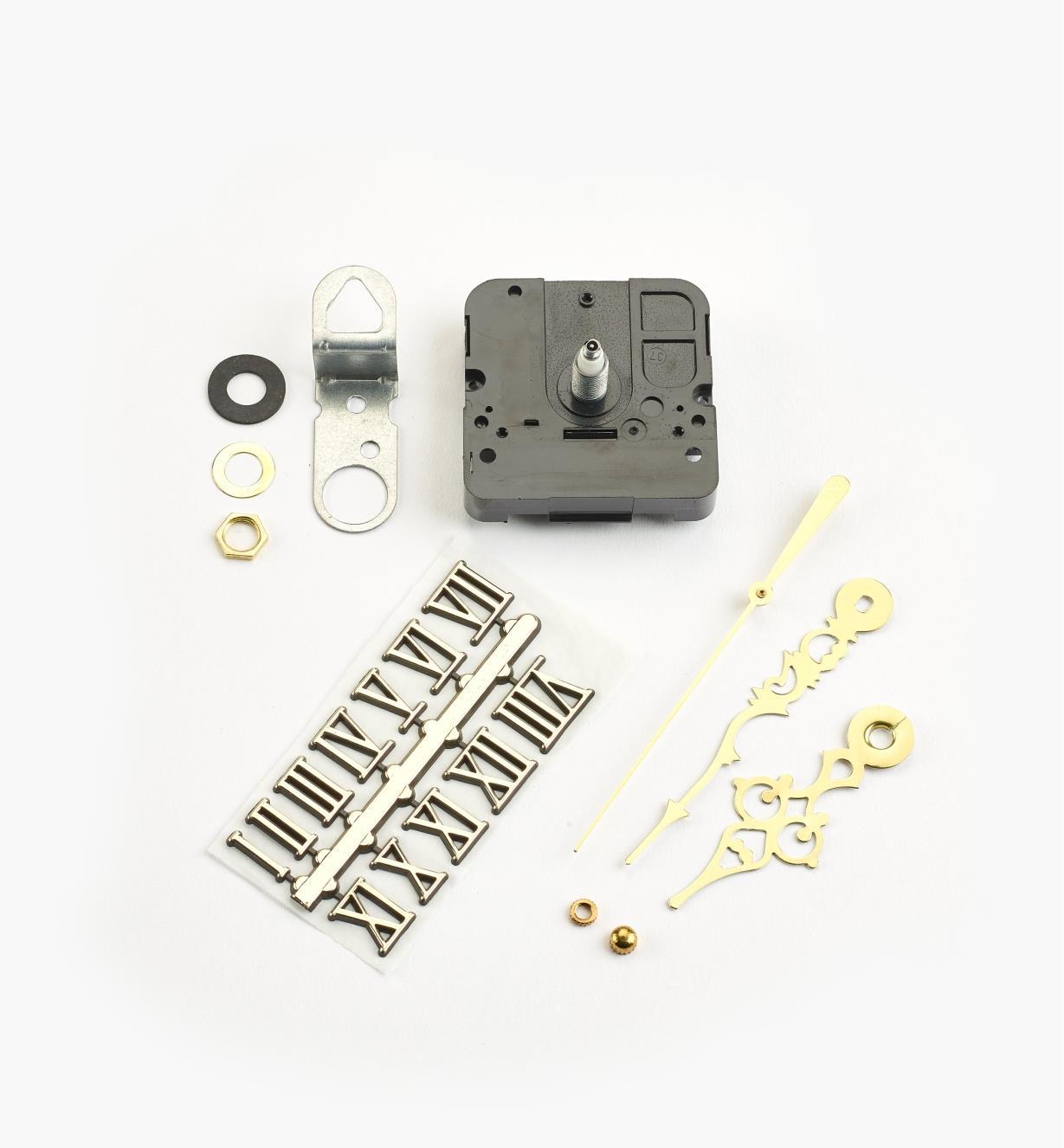 46K3151 - Composants pour horloge à arbre de 3/8po, chiffres romains