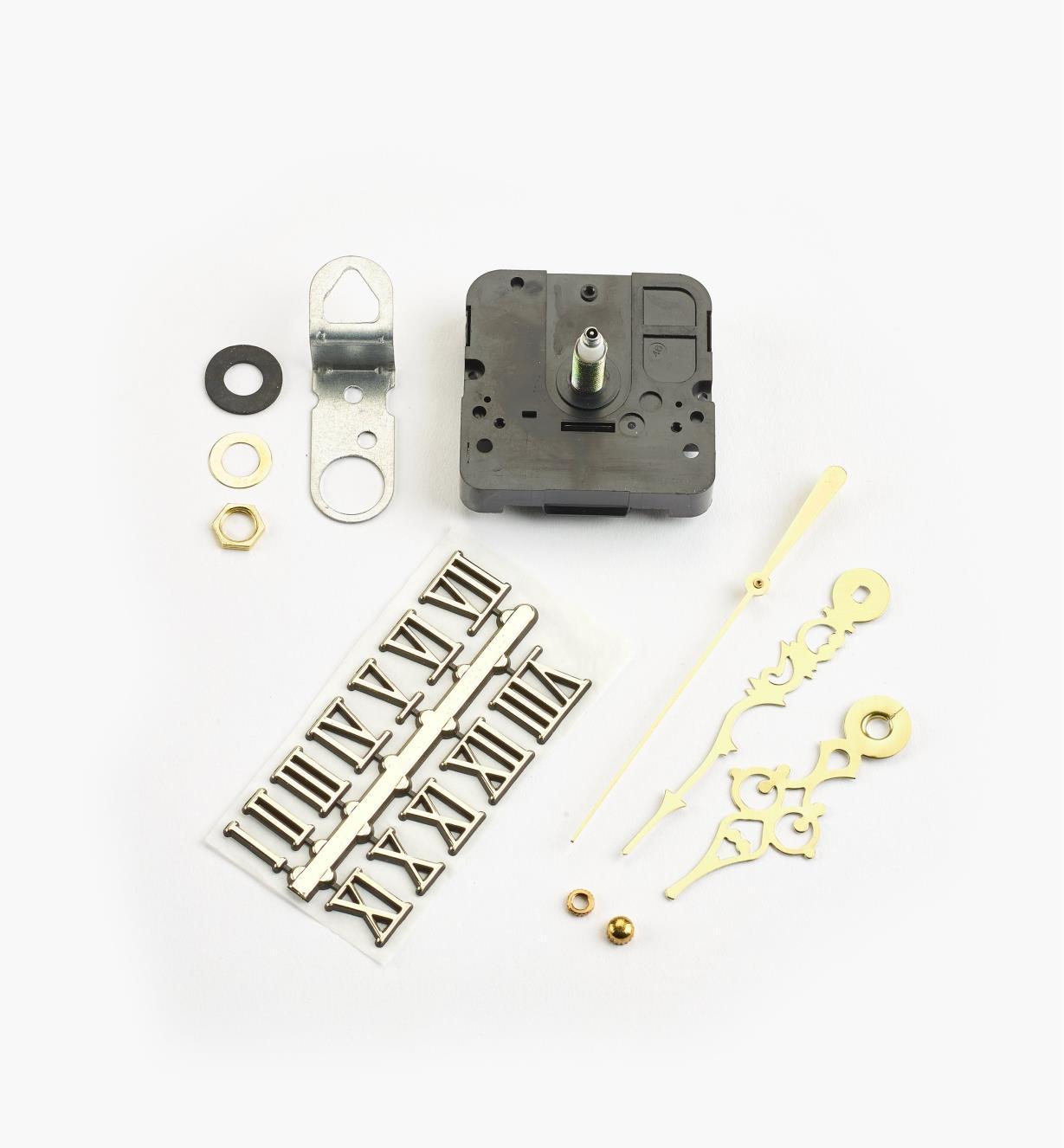 46K3152 - Composants pour horloge à arbre de 1/2po, chiffres romains