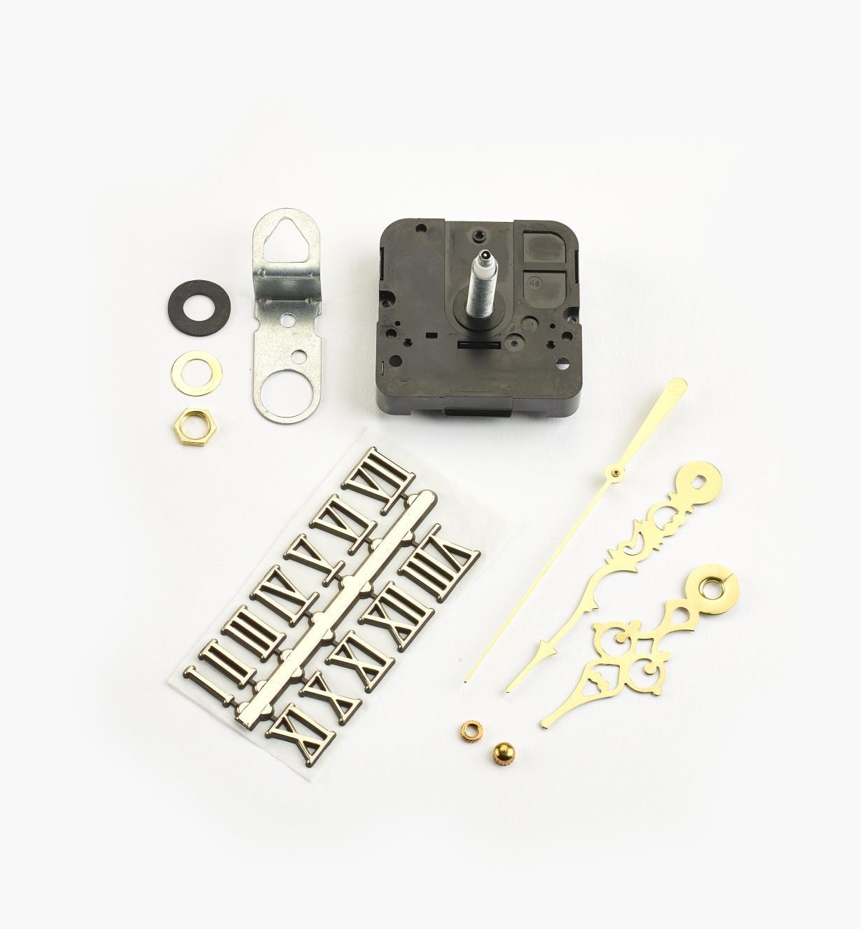 46K3153 - Composants pour horloge à arbre de 3/4po, chiffres romains