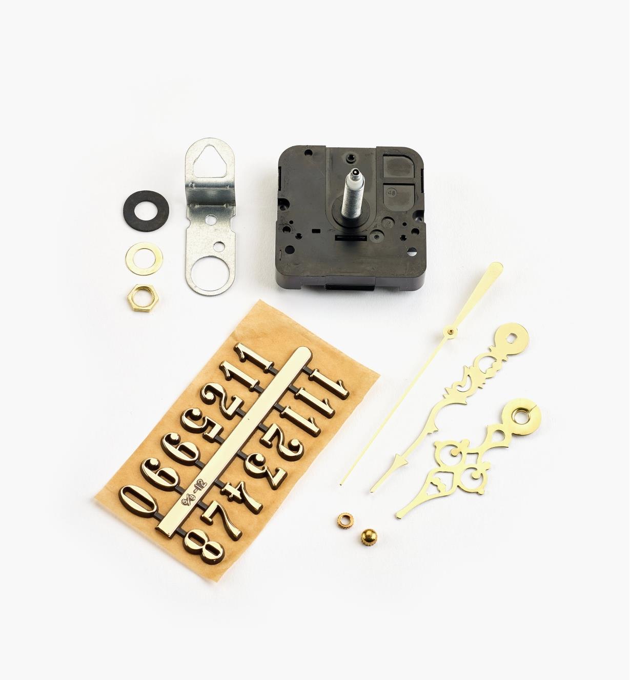 46K3163 - Composants pour horloge à arbre de 3/4po, chiffres arabes