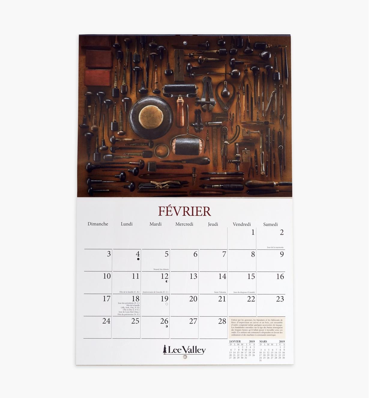 49L0796 - Calendrier2018 2019 – Travail du bois