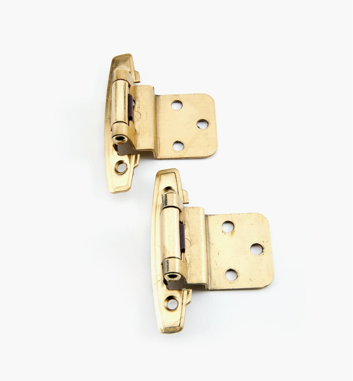 03W3021 - Belwith Brass Offset Hinges, pr.