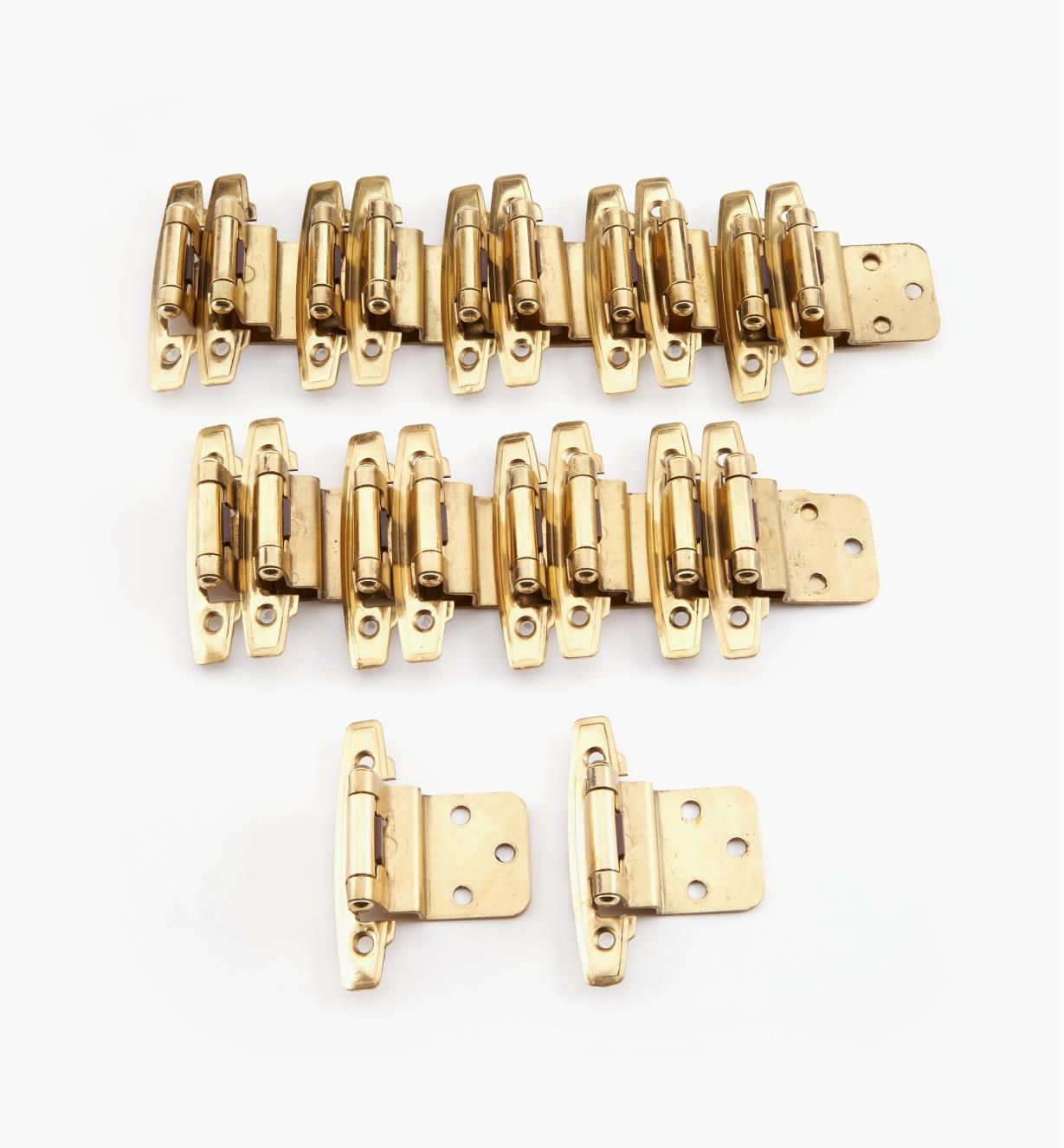 03W3021B - Belwith Brass Offset Hinges, 10 pr.