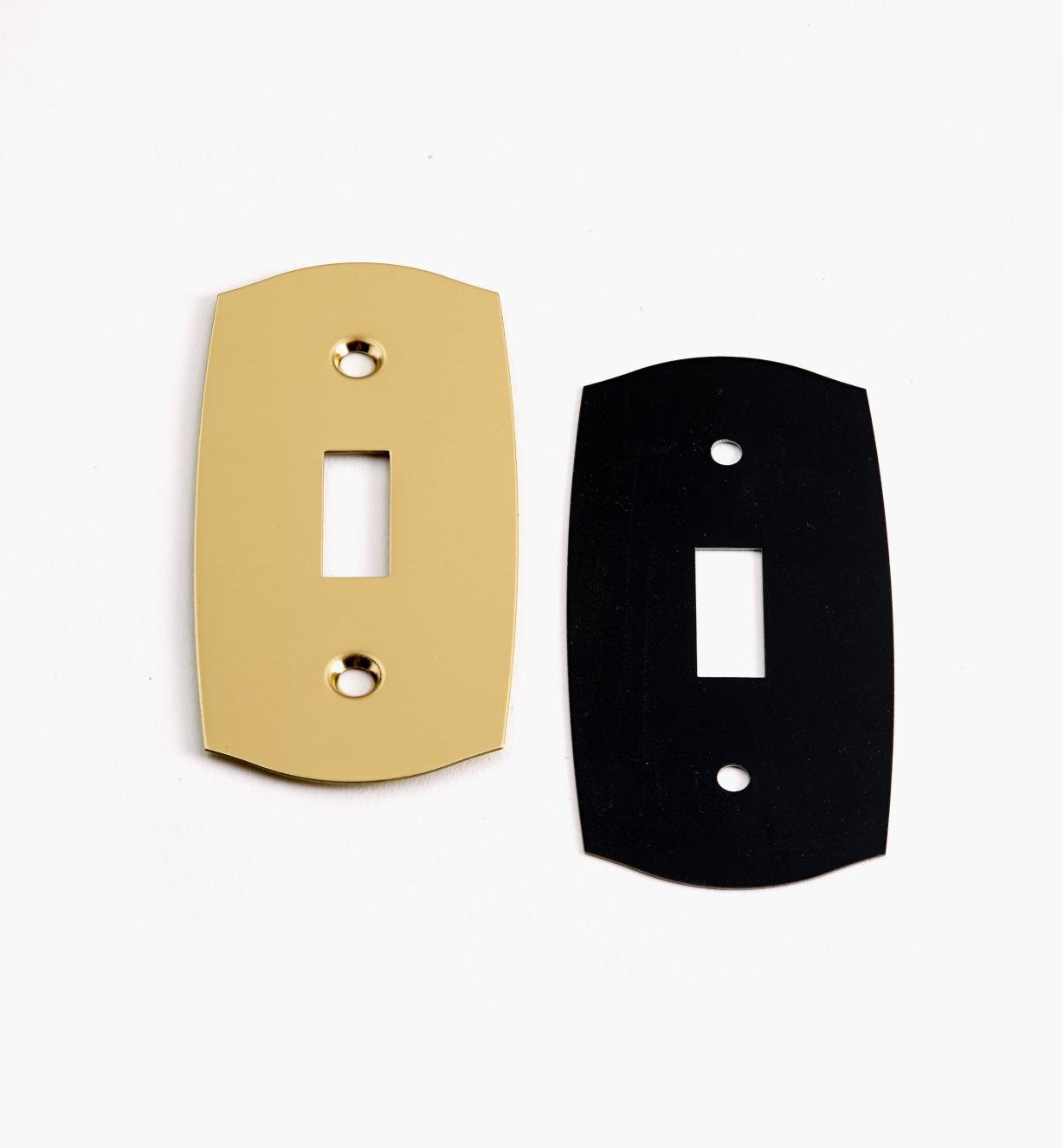 88K9690 - Single Polished Brass Light Switch Plate, ea.