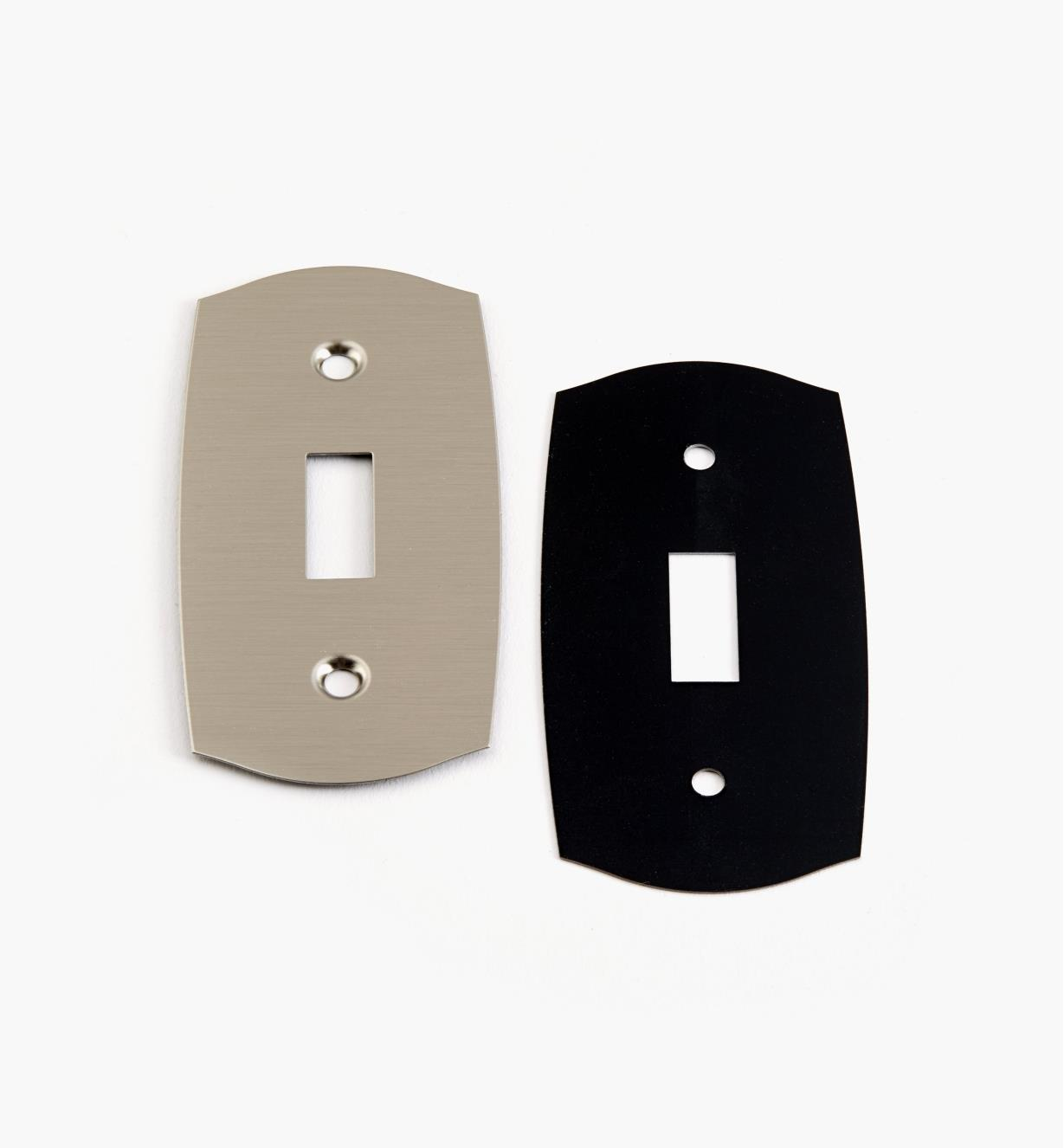 88K9693 - Single Satin Nickel Light Switch Plate, ea.