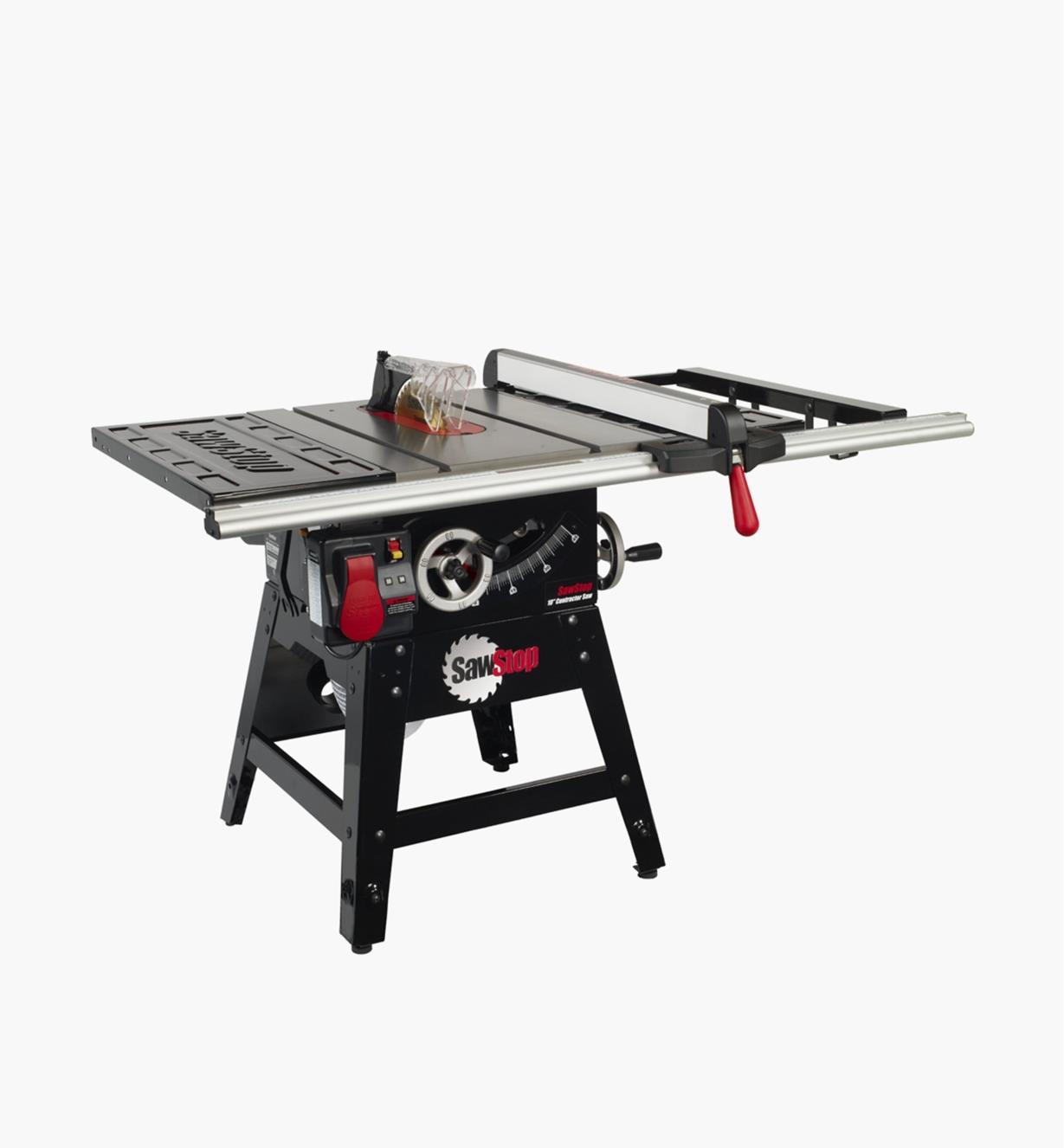 "95T2080 - SawStop Contractor Table Saw with Aluminum Fence, 30"" Rails"