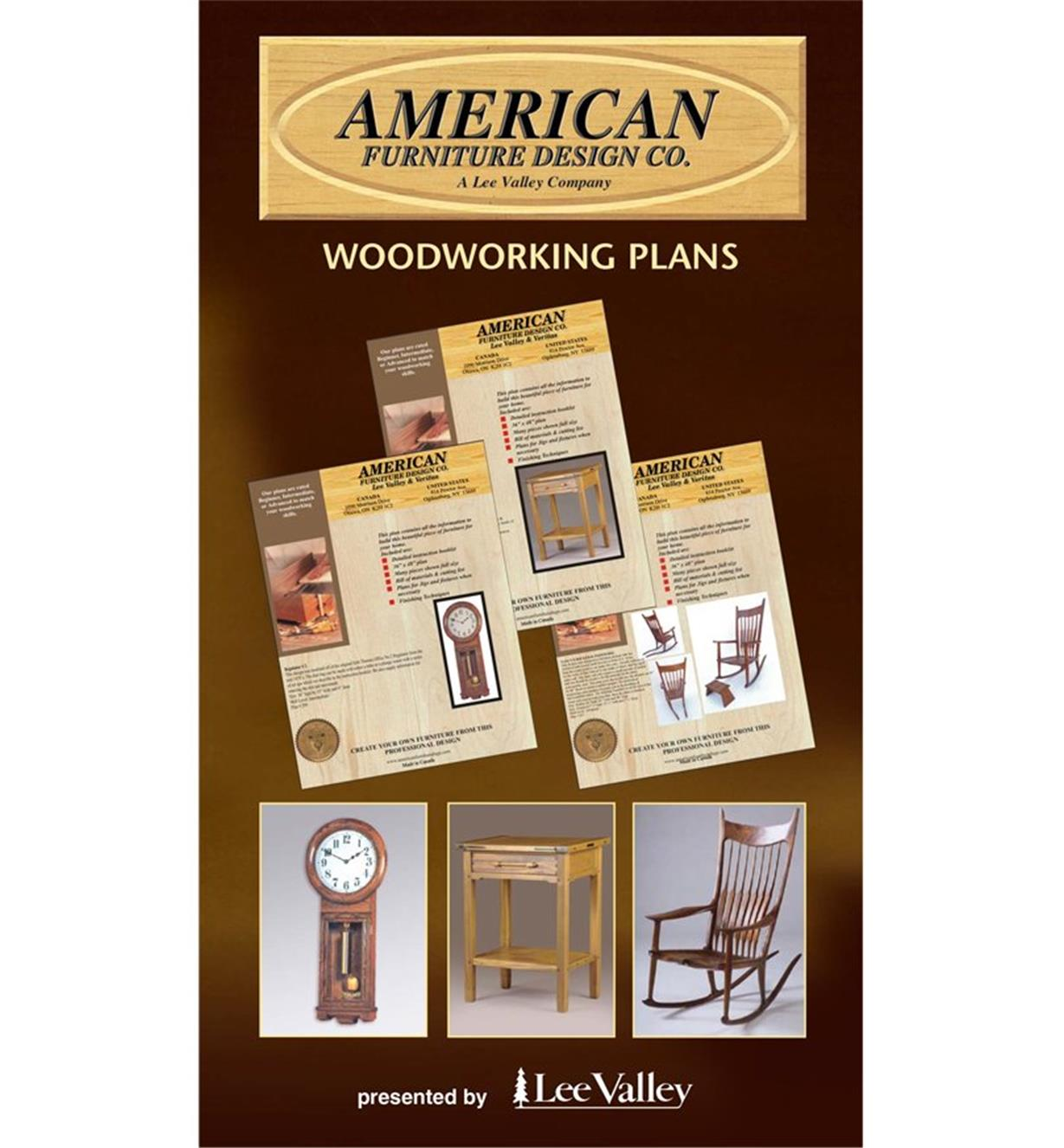 C1116D - American Furniture Design Woodworking Plans Catalog, Canada
