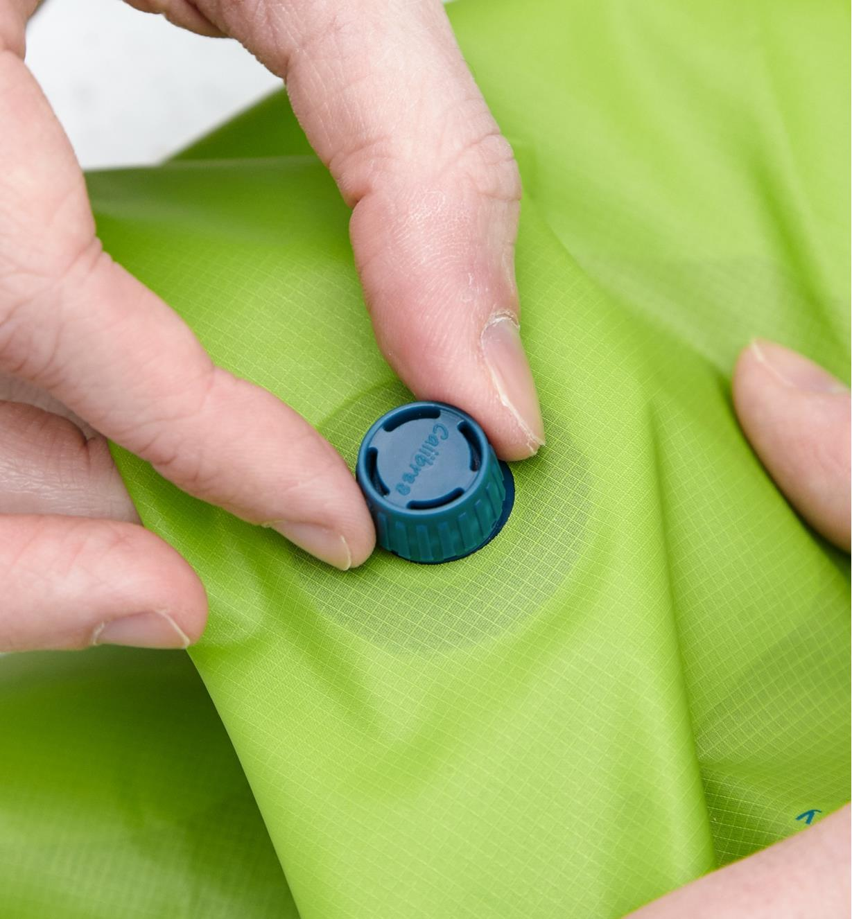 Valve on the Scrubba Wash Bag lets you remove excess air
