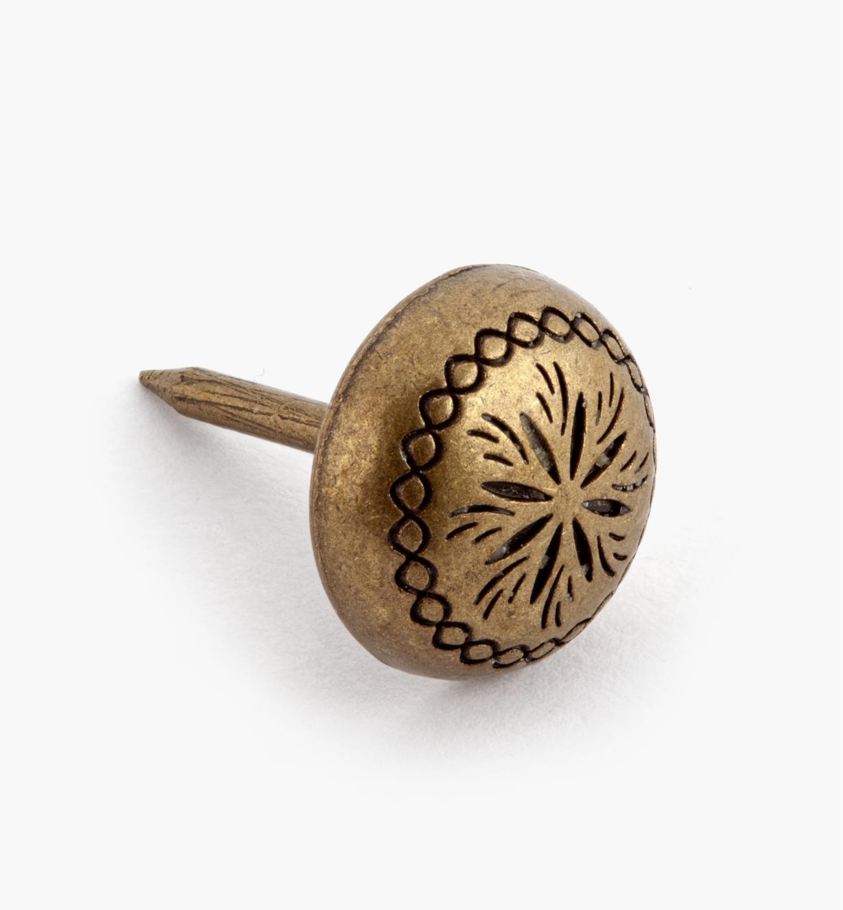 """00T0930 - Petal Clavos, 7/16"""", Antique Brass, ea."""