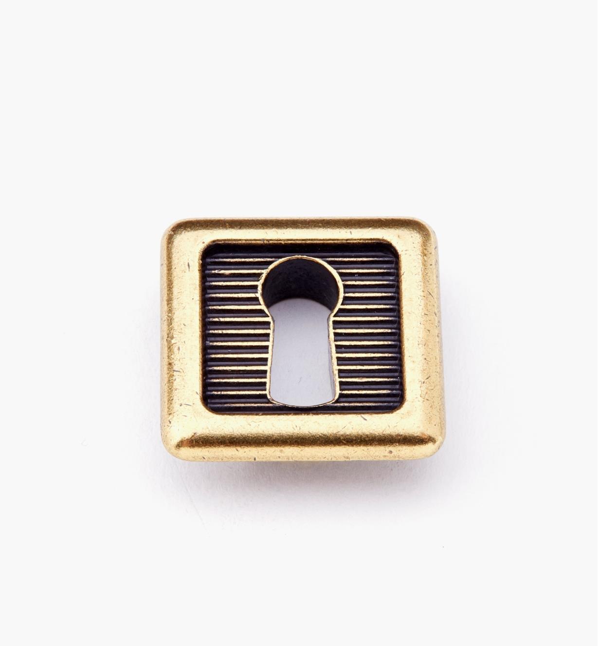 01X4233 - Entrée de serrure carrée encastrée de 25 mm x 25 mm, bronze bruni