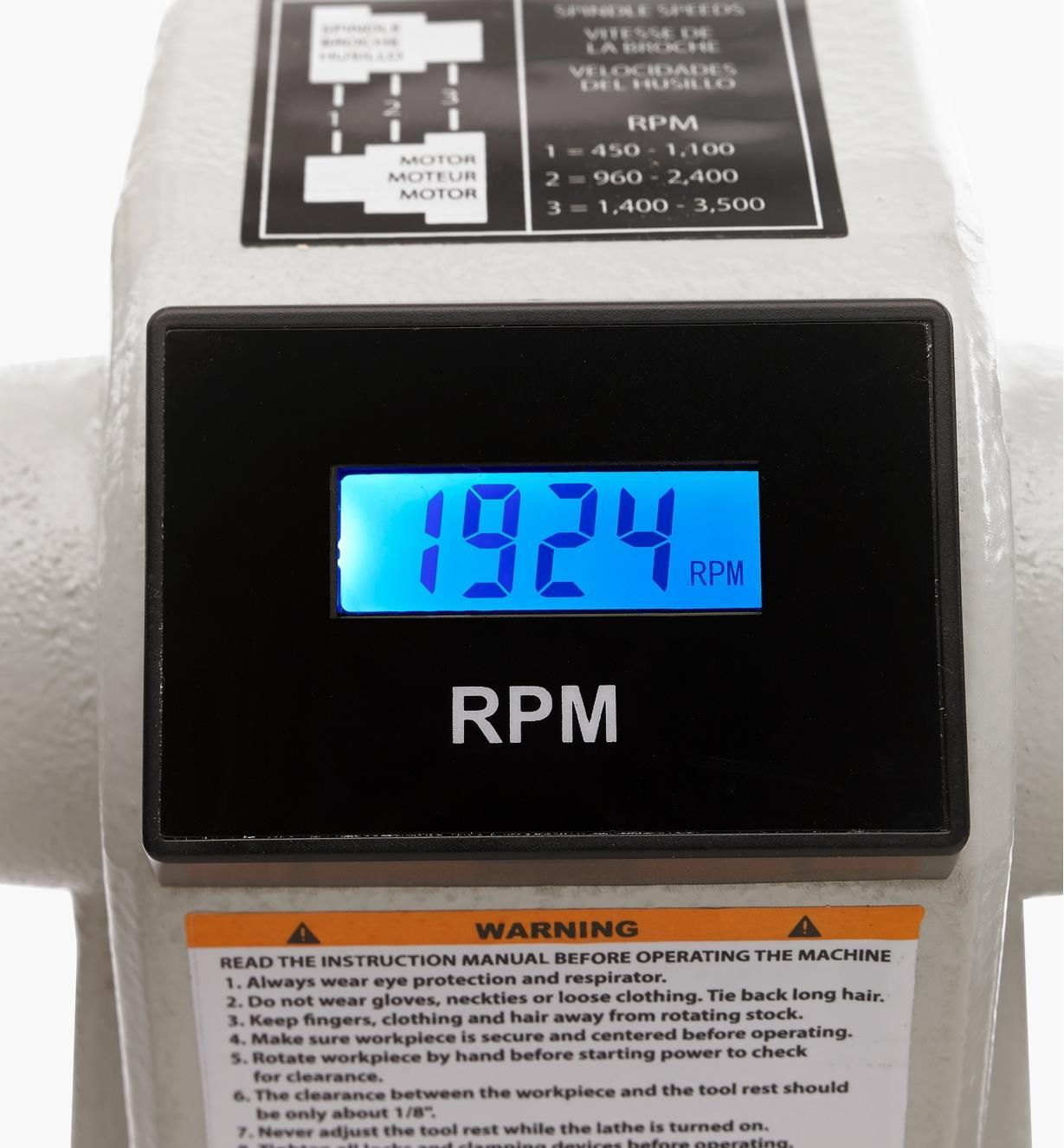 03J7315 - Rikon 3/4 hp Midi Lathe (70-1218VS)