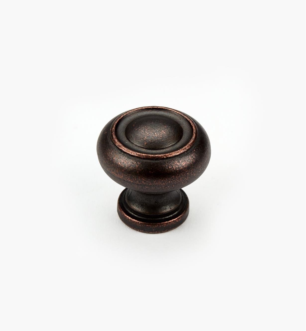"03W2832 - 1 1/4"" Dark Bronze Knob, Ring"