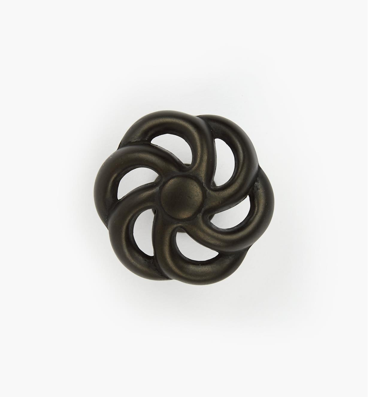 "03W2834 - 1 1/2"" Dark Bronze Knob, Bird Cage"