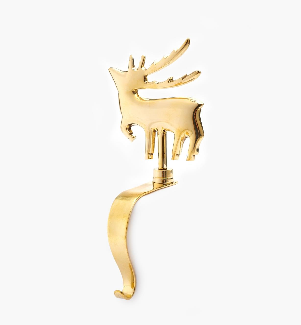 45K1945 - Brass Reindeer Stocking Hanger