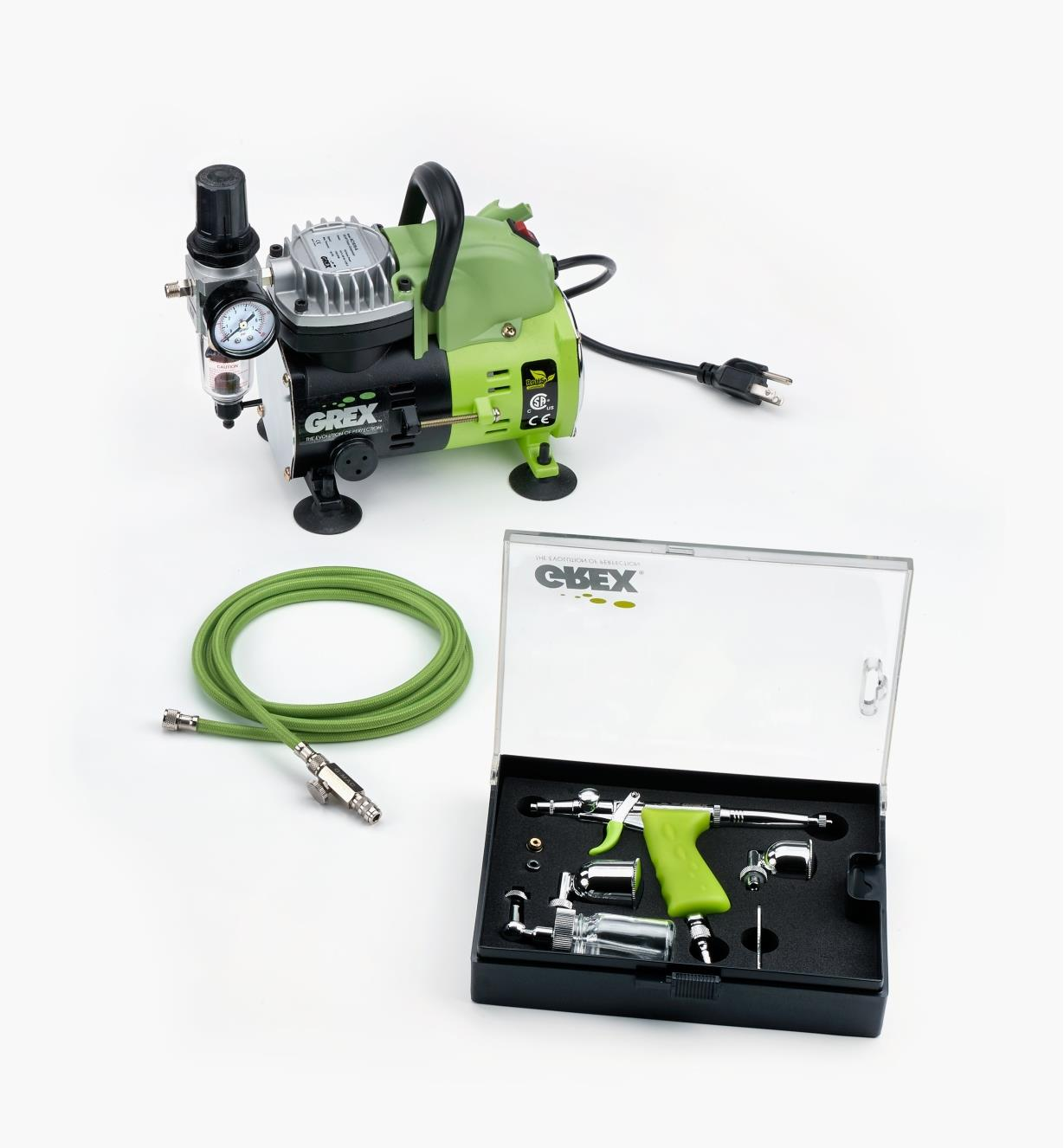 86N5550 - Grex Airbrush Kit, Side-Mount Cup