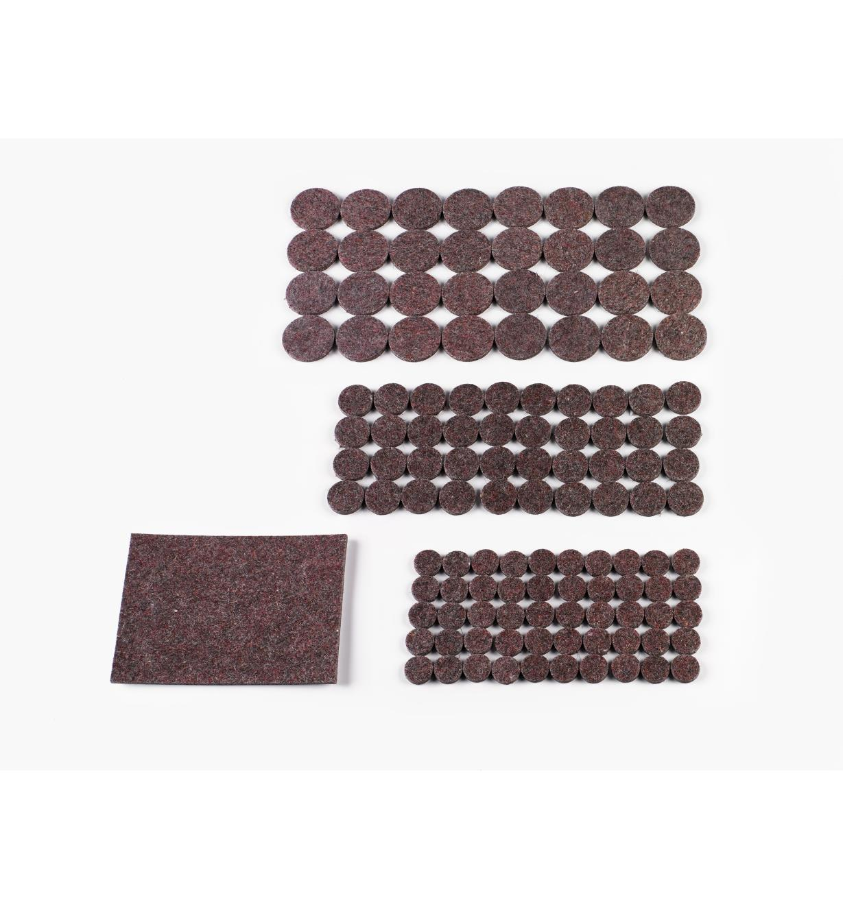 99W8716 - 123-Piece Set of Wool-Blend Furniture Pads