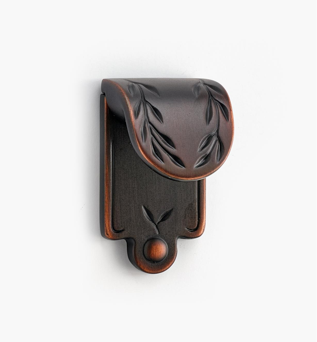 02A0533 - Leaf Finger Pull, Oil-Rubbed Bronze