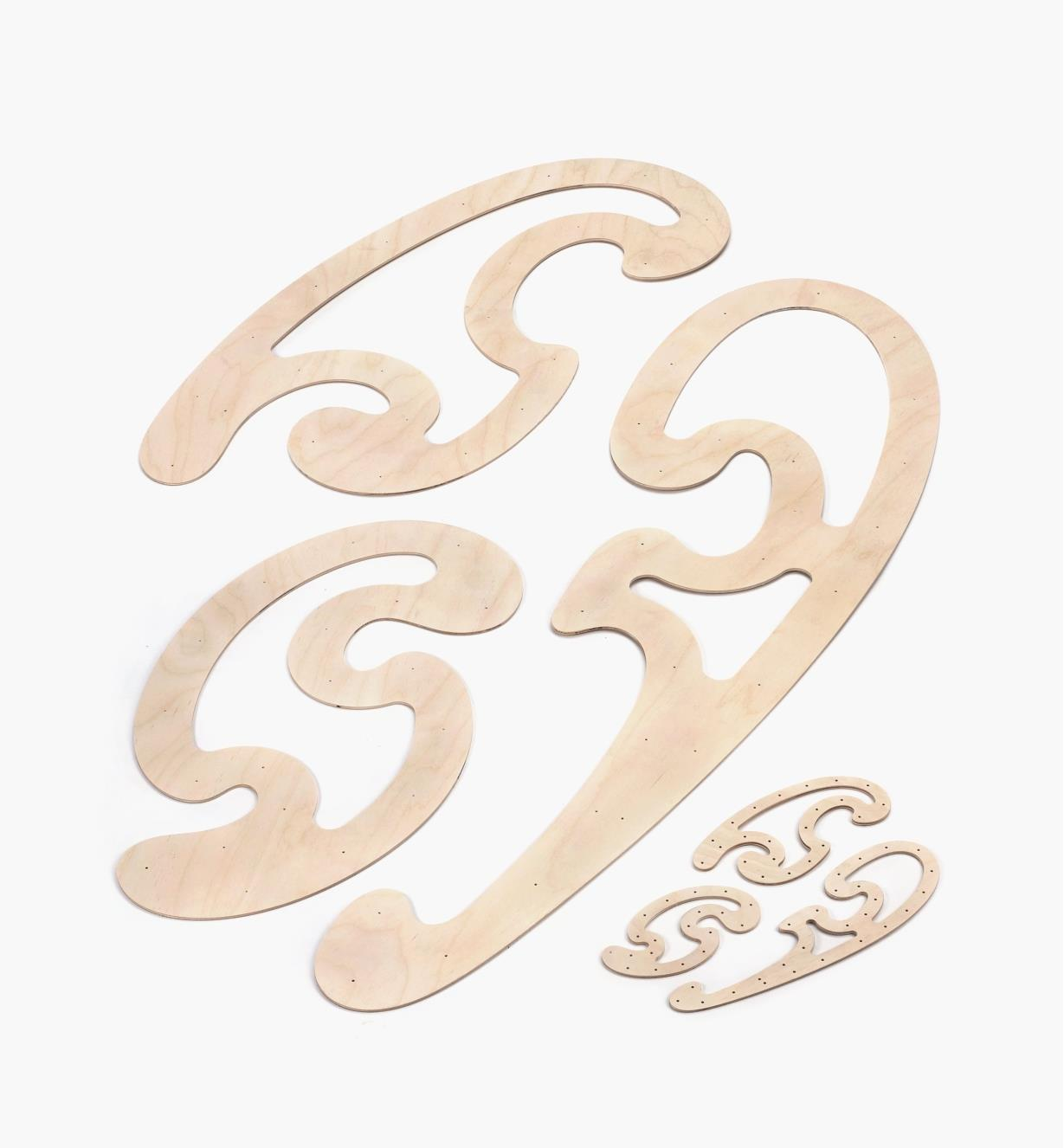 05N7805 - Set of 6 French Curves
