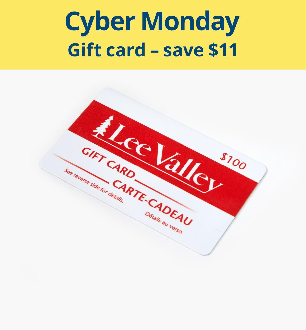Gift Card 100 Discounted Lee Valley Tools