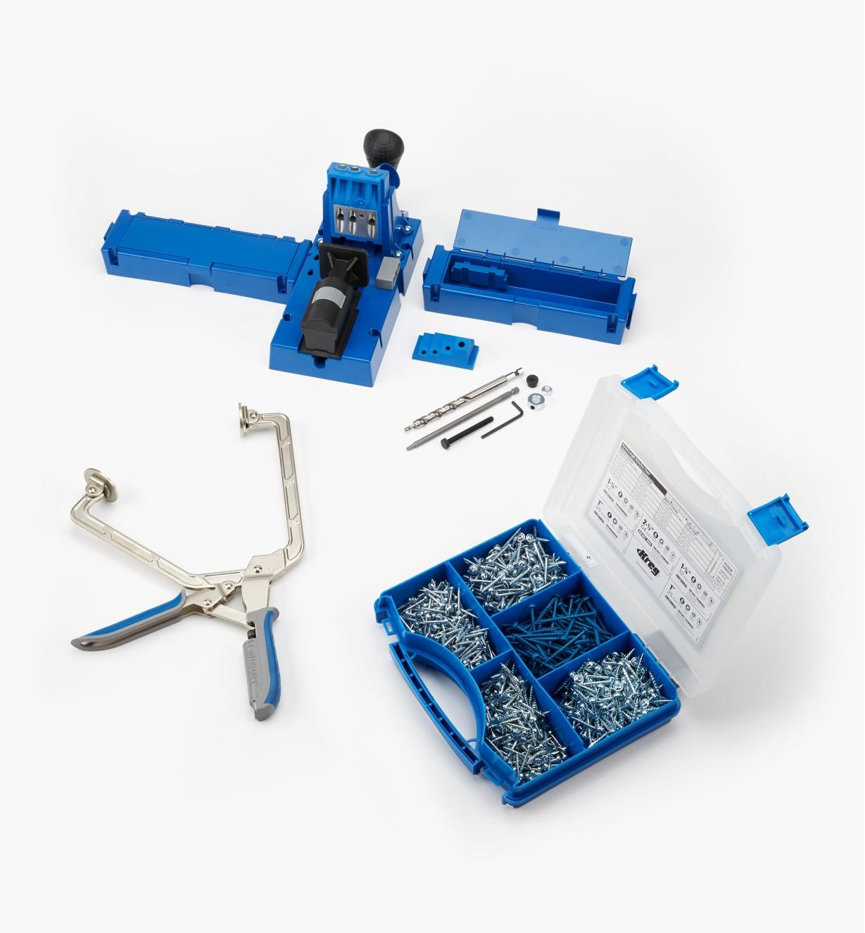 25K5920D - Kreg K5 Pocket-Hole Jig, Screw Kit & Clamp