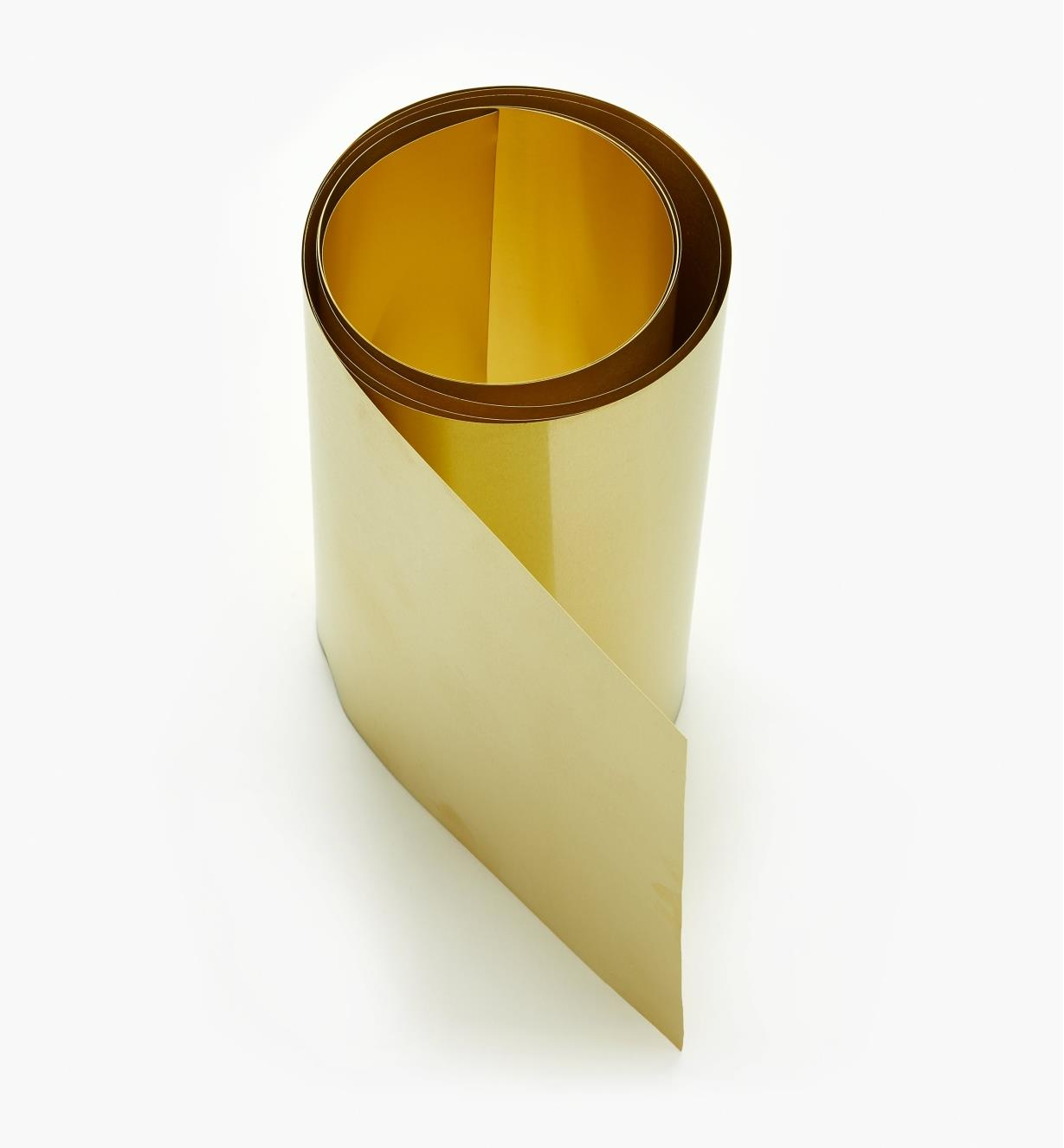 "27K0902 - 6"" × 60"" Brass Shim Stock – 0.0015"""