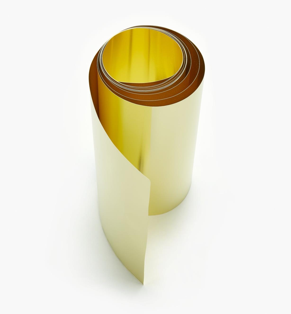 "27K0903 - 6"" × 60"" Brass Shim Stock – 0.002"""
