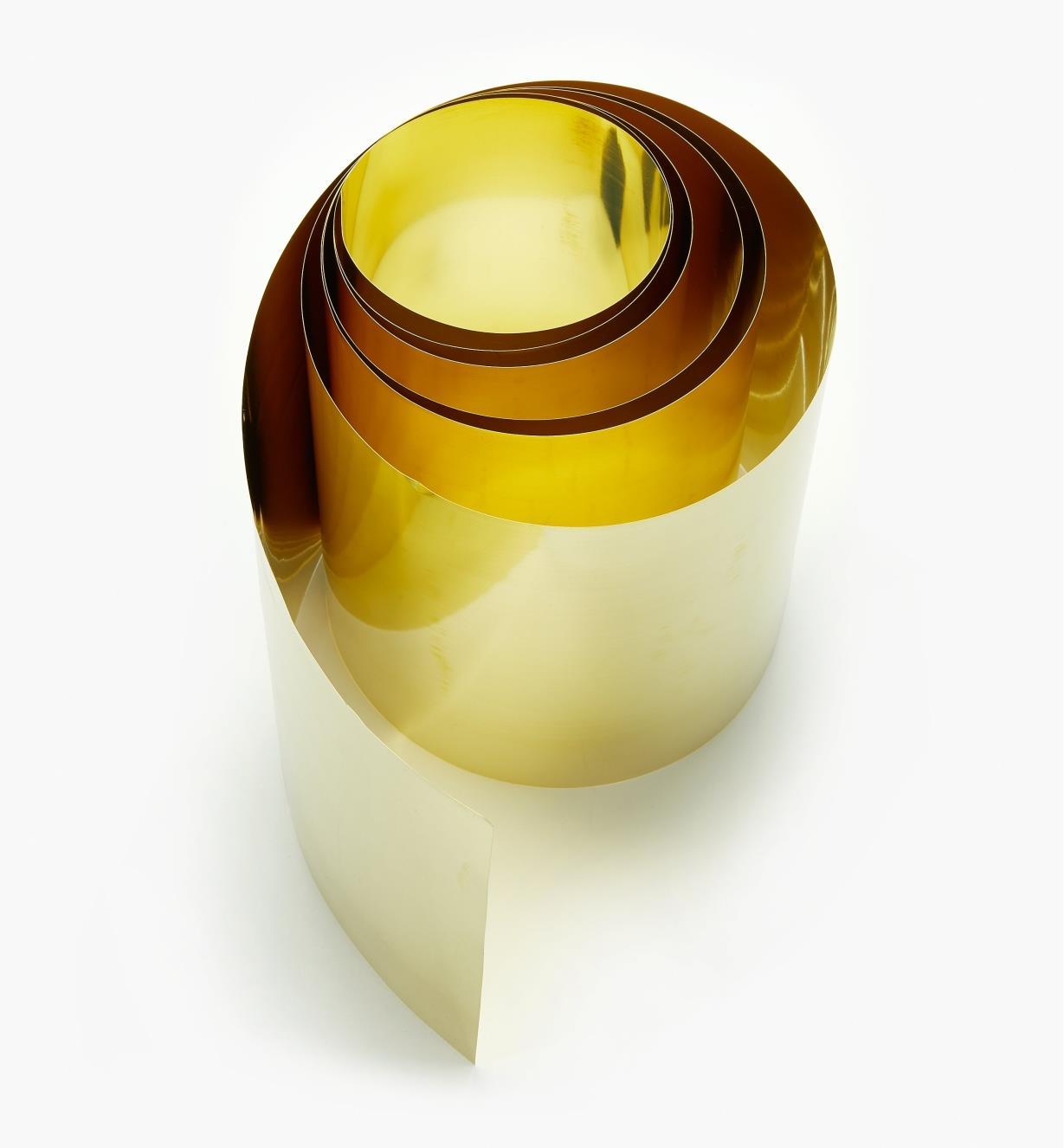 "27K0904 - 6"" × 60"" Brass Shim Stock – 0.003"""