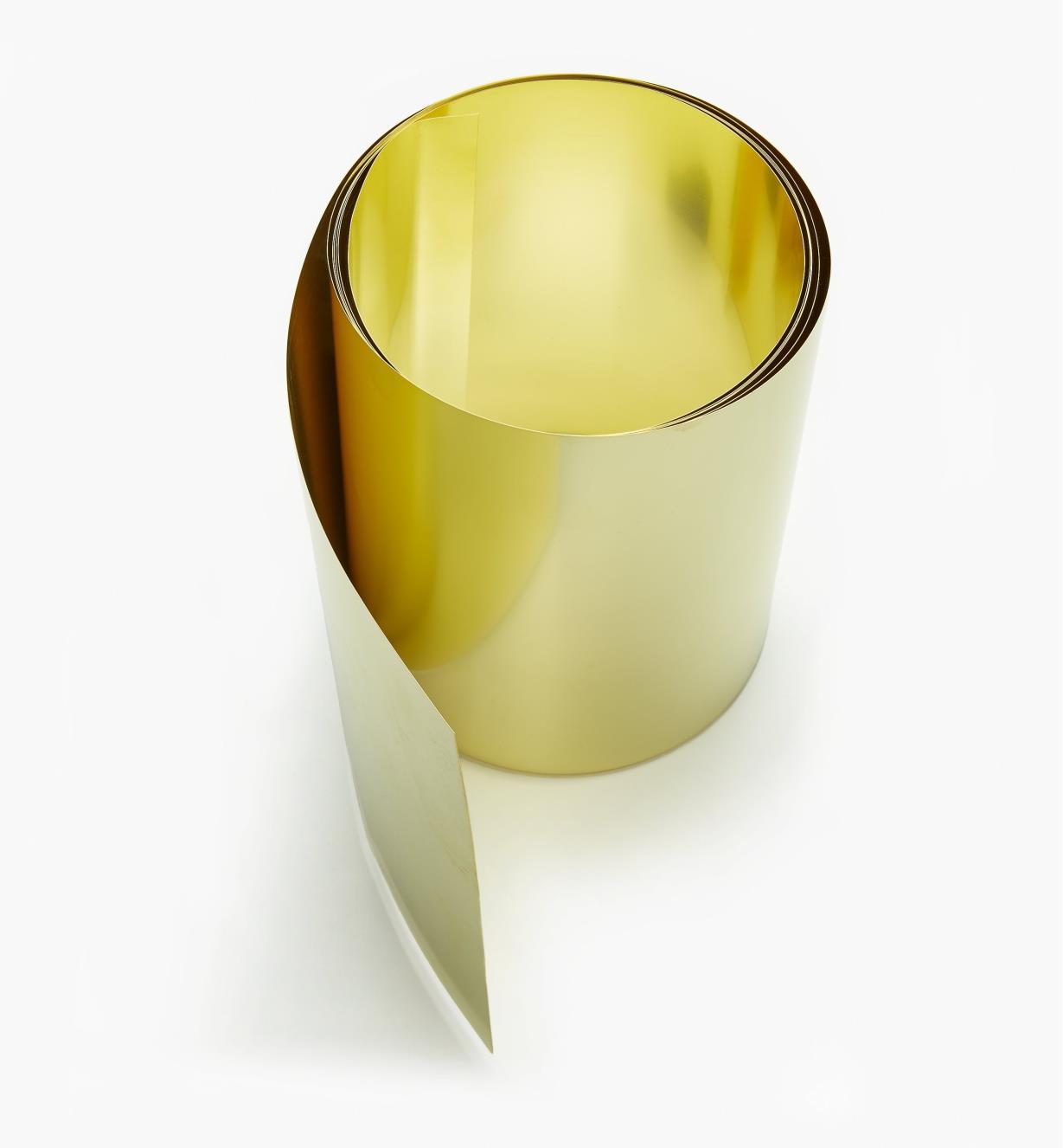 "27K0905 - 6"" × 60"" Brass Shim Stock – 0.005"""