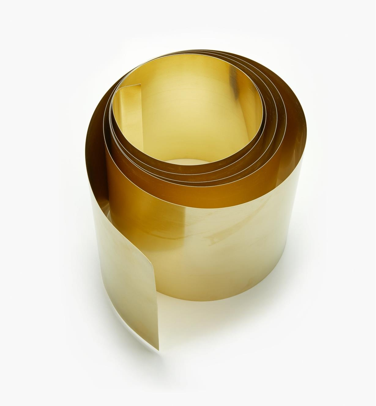 "27K0906 - 6"" × 60"" Brass Shim Stock – 0.010"""