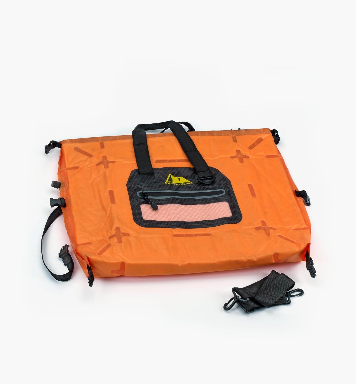 99W3933 - Self-Inflating Cooler, Orange