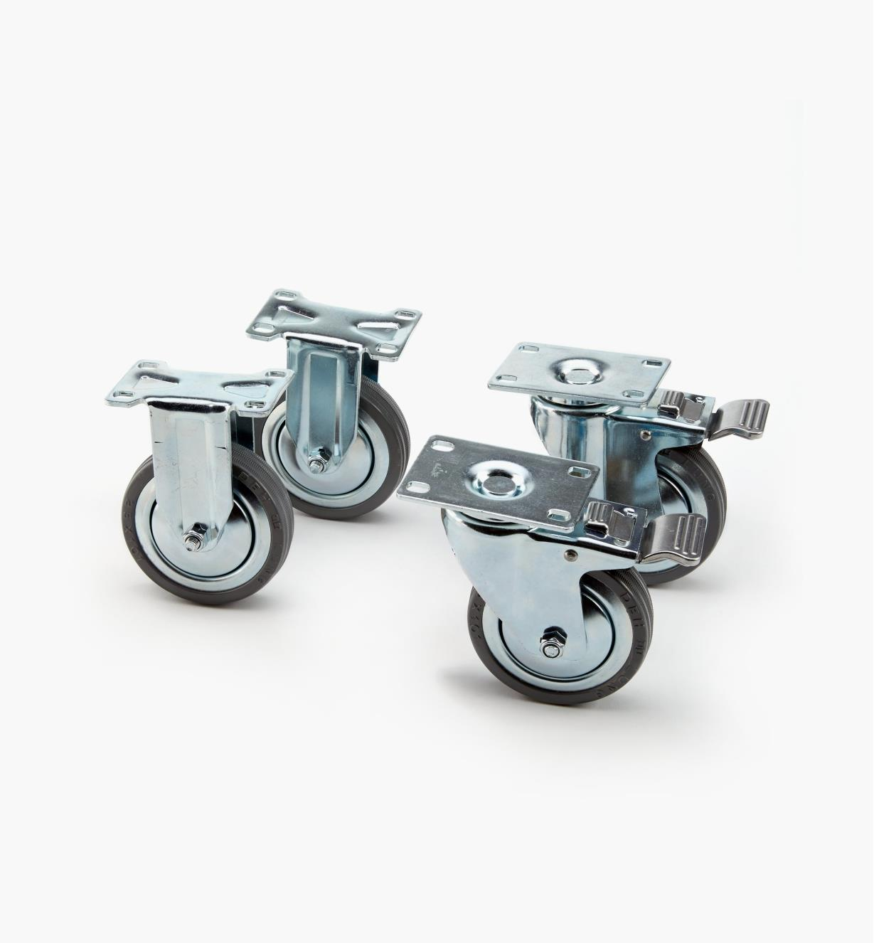 00K2010 - Set of 4 Heavy-Duty Casters (2 of ea)