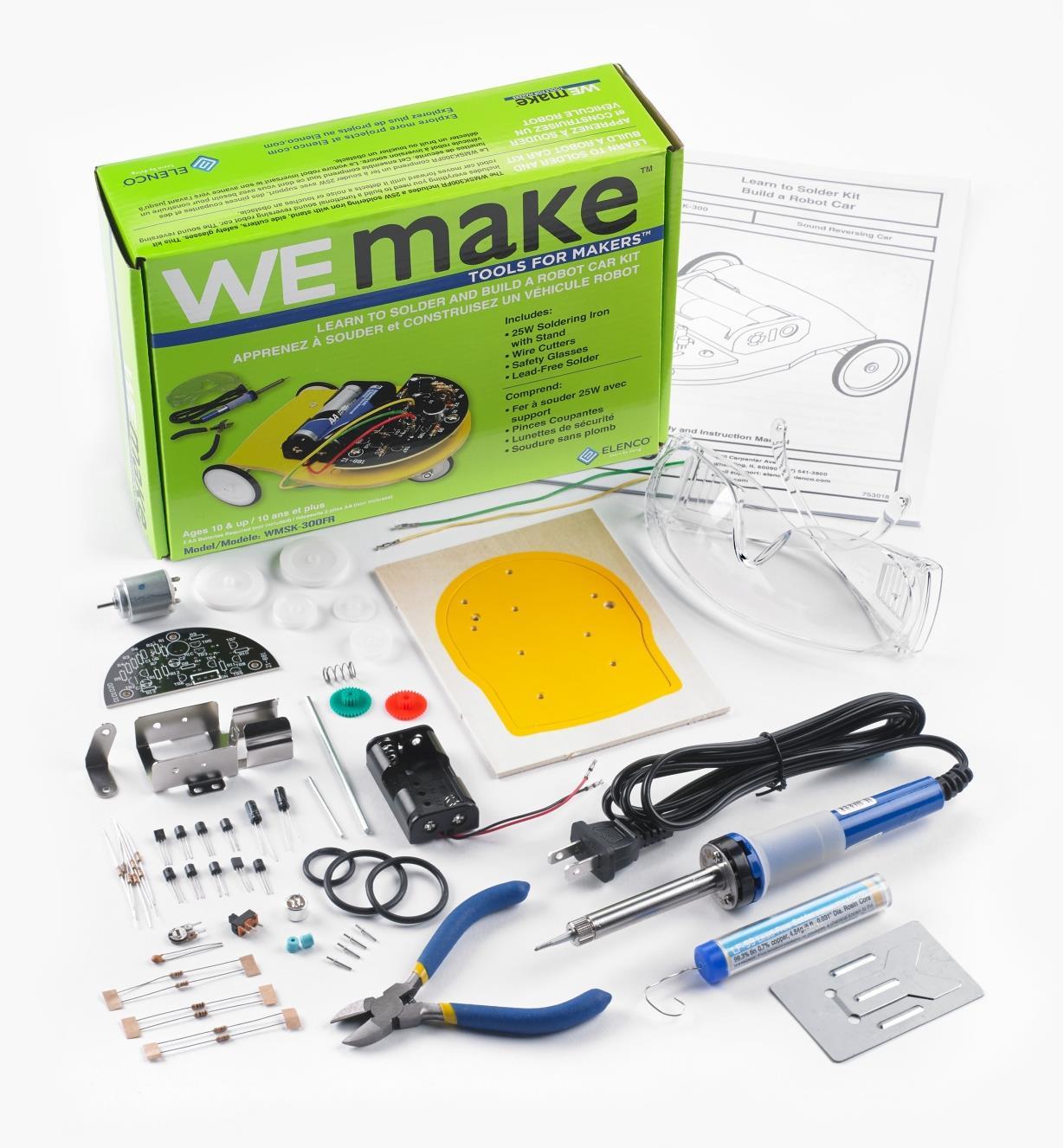 45K5051 - Véhicule miniature robotisé à assembler WEMake Elenco
