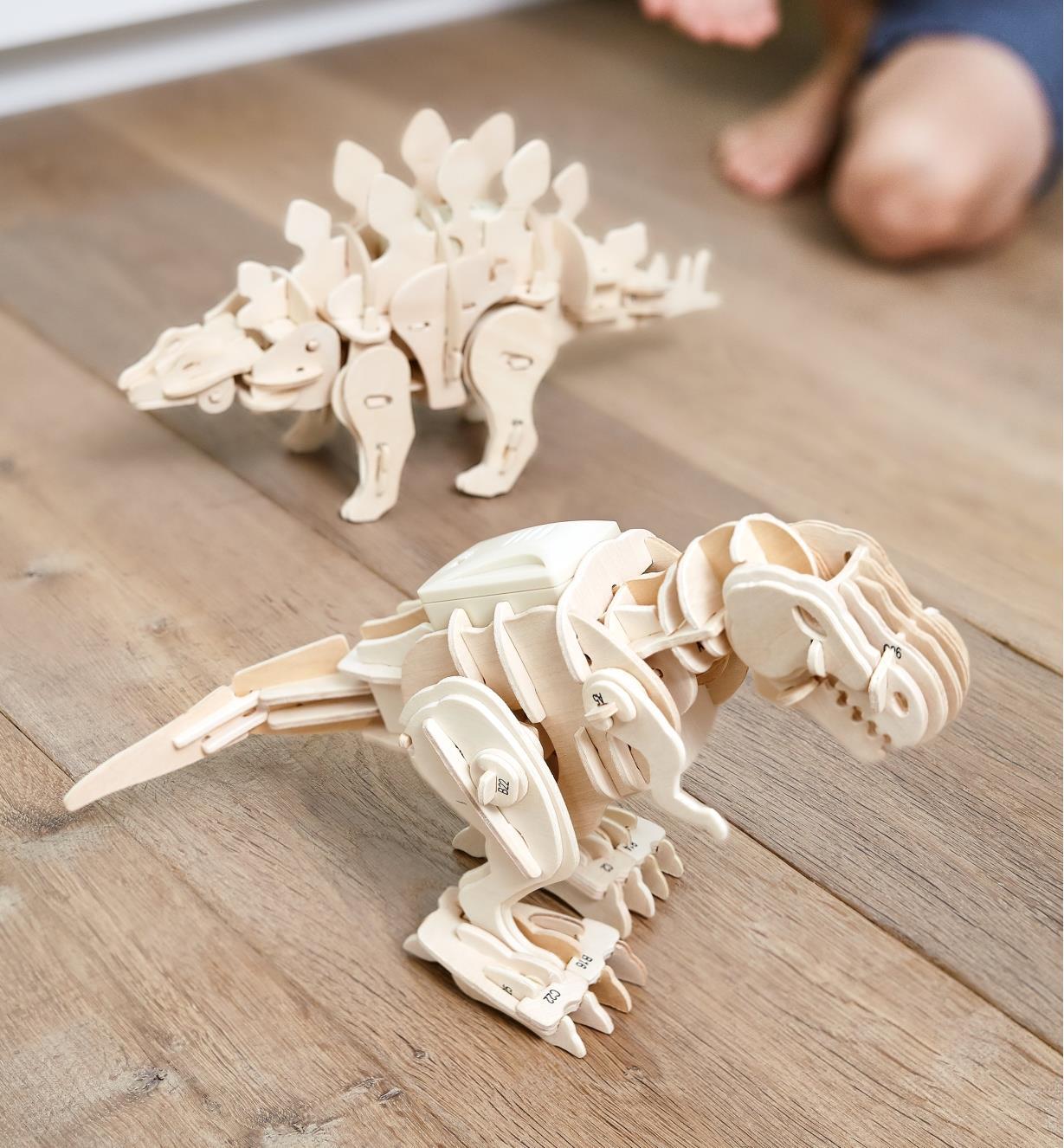 Modèles réduits animés – dinosaures