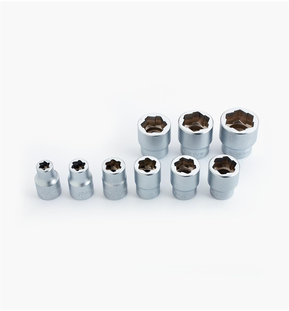 99W8976 - Bolt Extractor Sockets, 9-pc Set