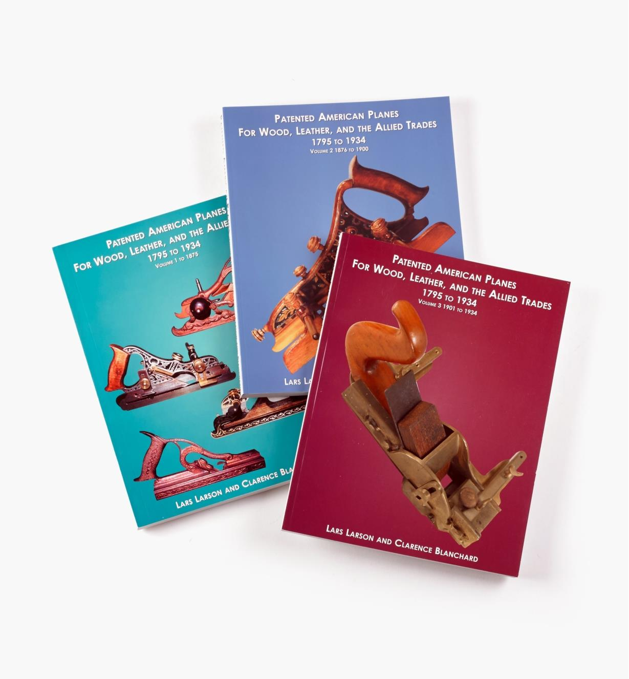 99W9020 - Patented American Planes for Wood, Leather and the Allied Trades, 3-Volume Set