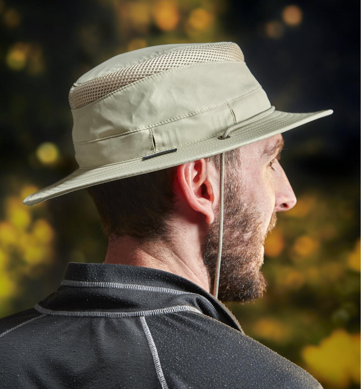 Side view of the classic travel hat