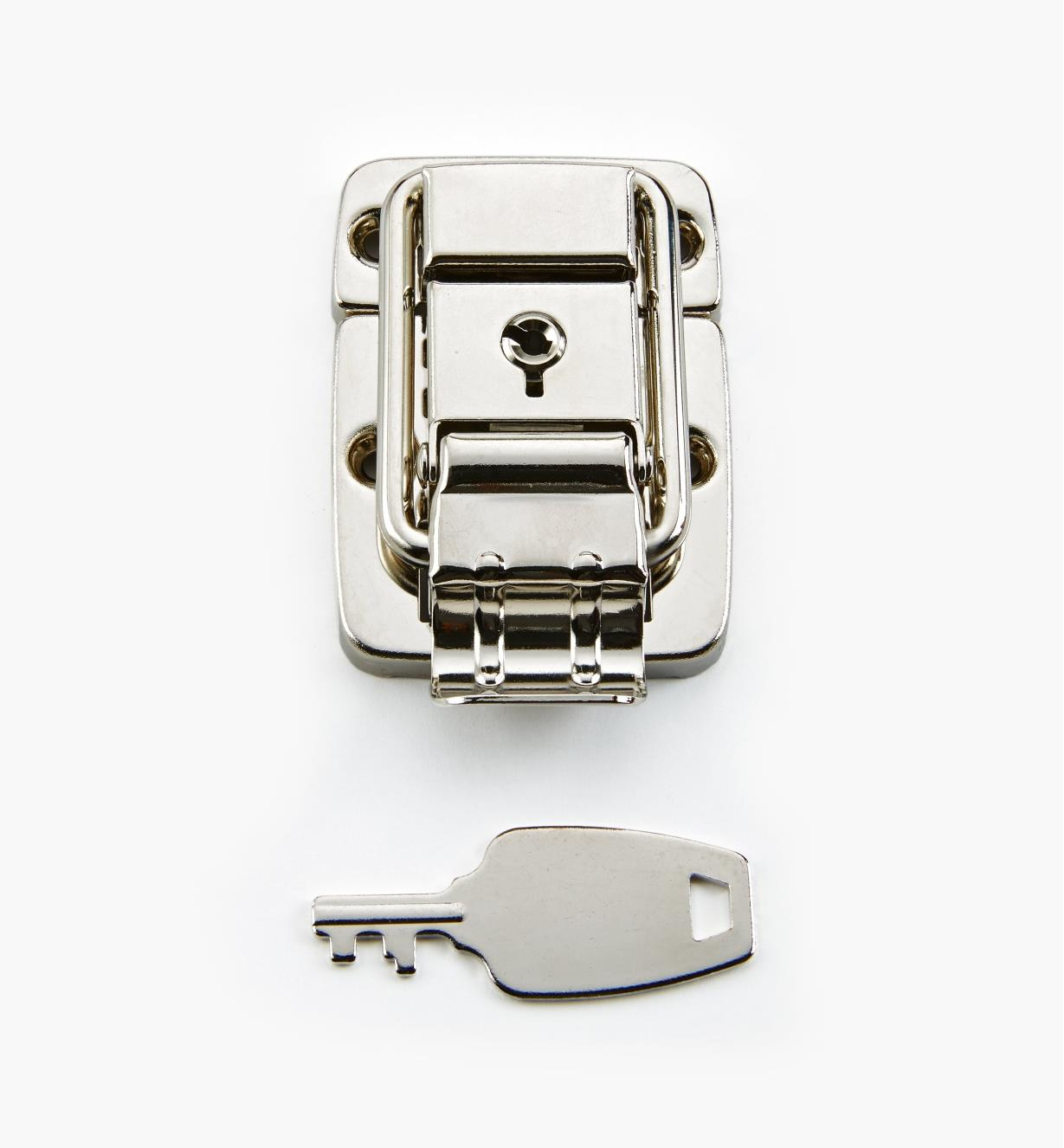 00S5560 - Nickel-Plated Locking Latch