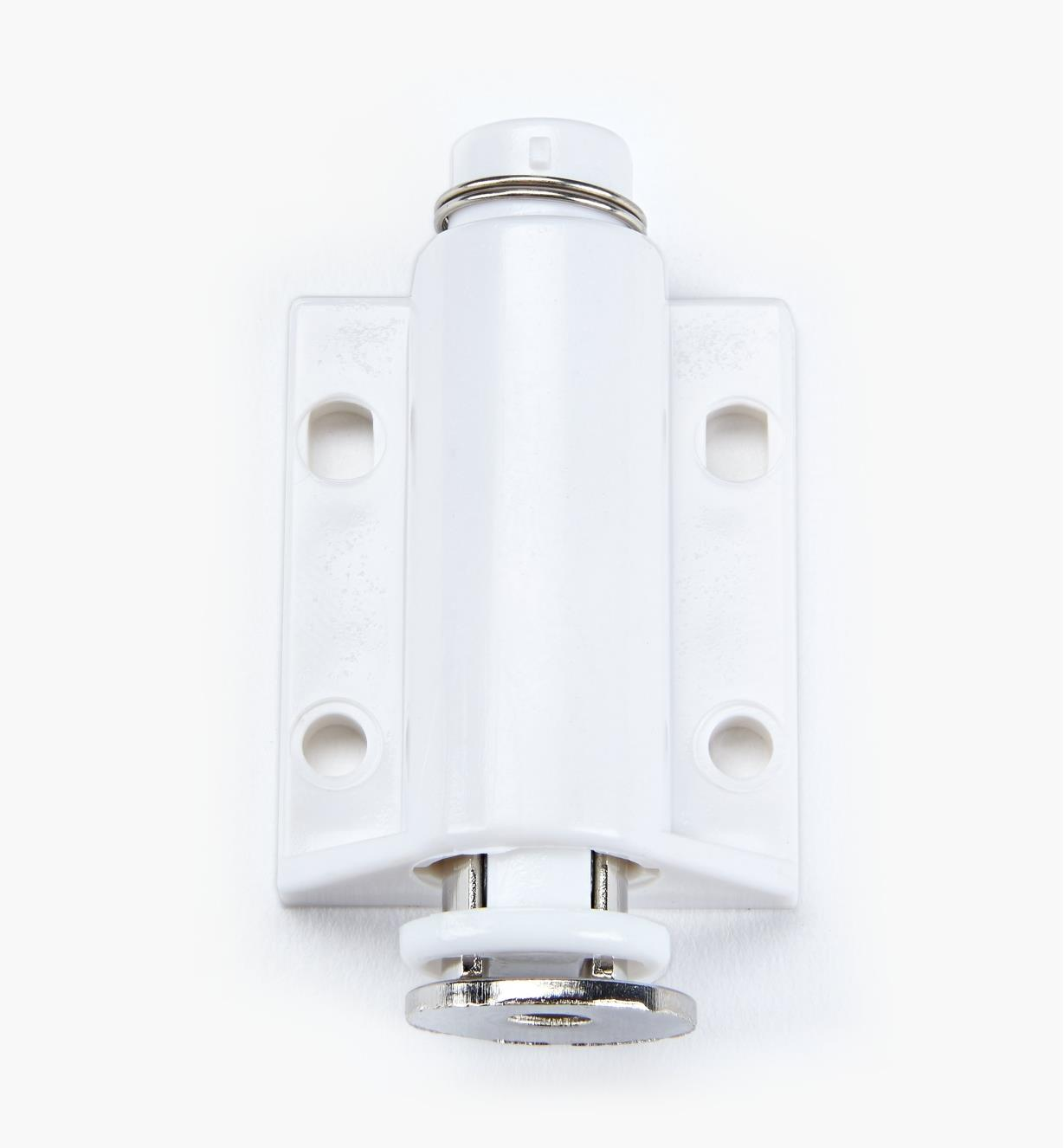00W0205 - White Single Magnetic Latch, ea.