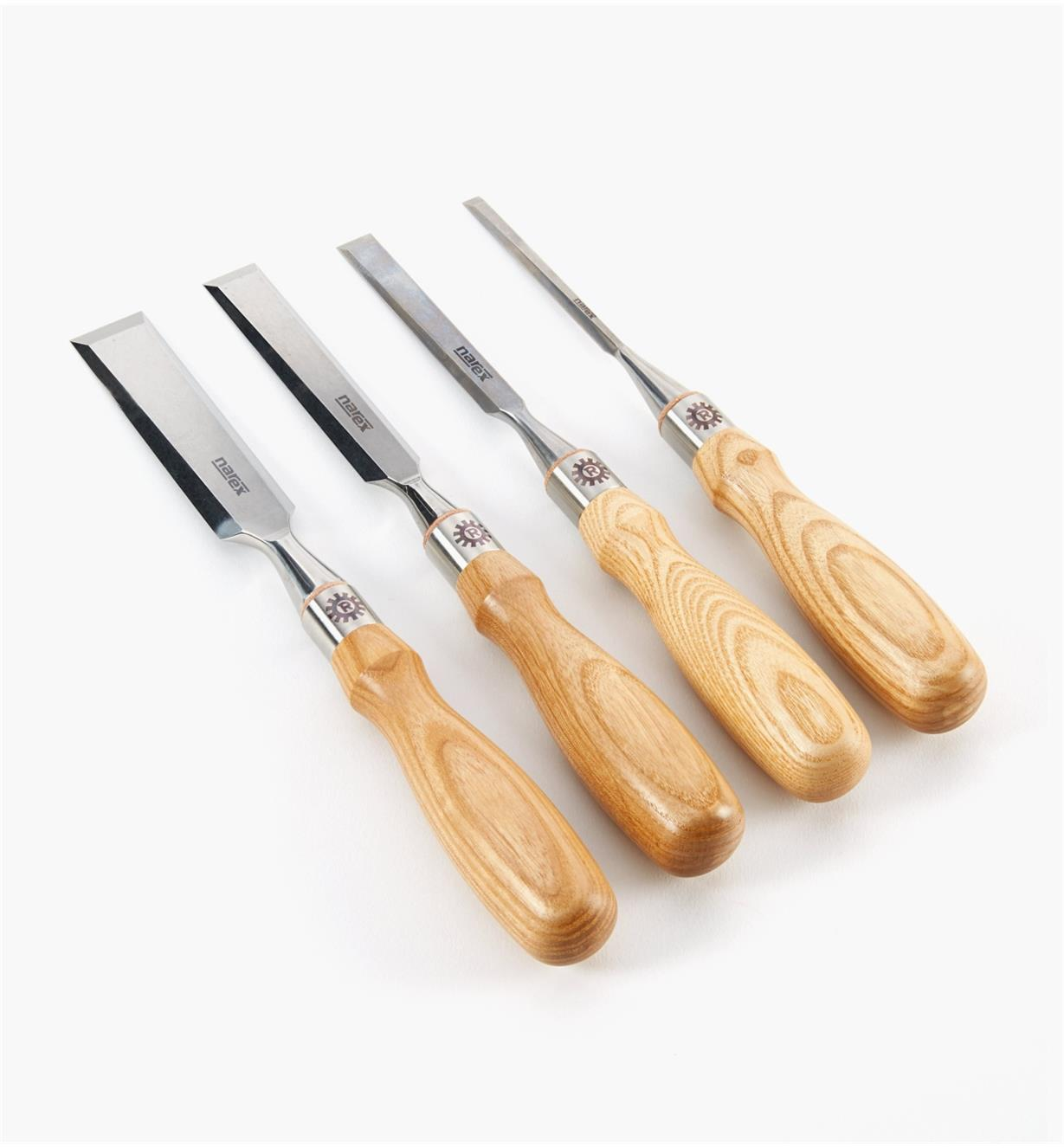 "10S1125 - Set of 4 Narex Richter Chisels (1/4"", 1/2"", 3/4"", 1"")"