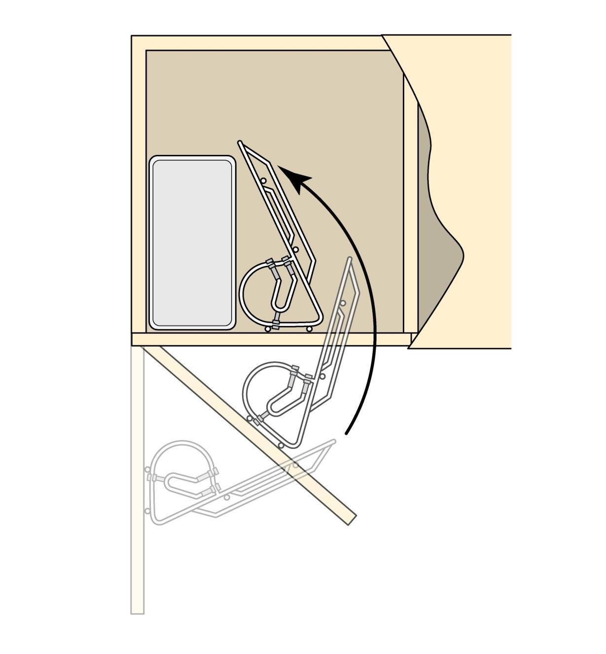12K3481 - Support pour balayette et pelle à poussière