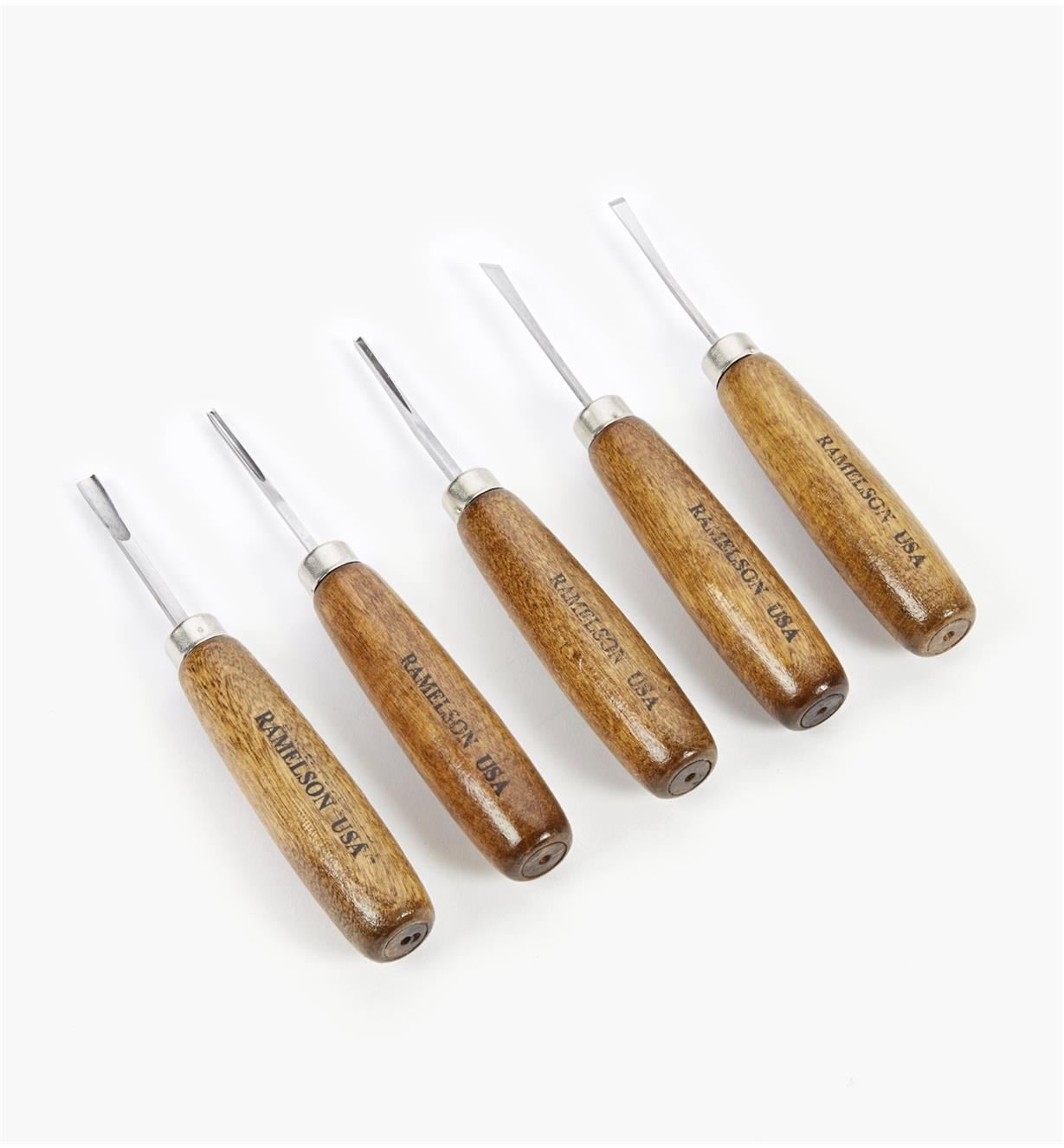 57D0411 - Set of 5 Long-Handle Detail Carving Tools